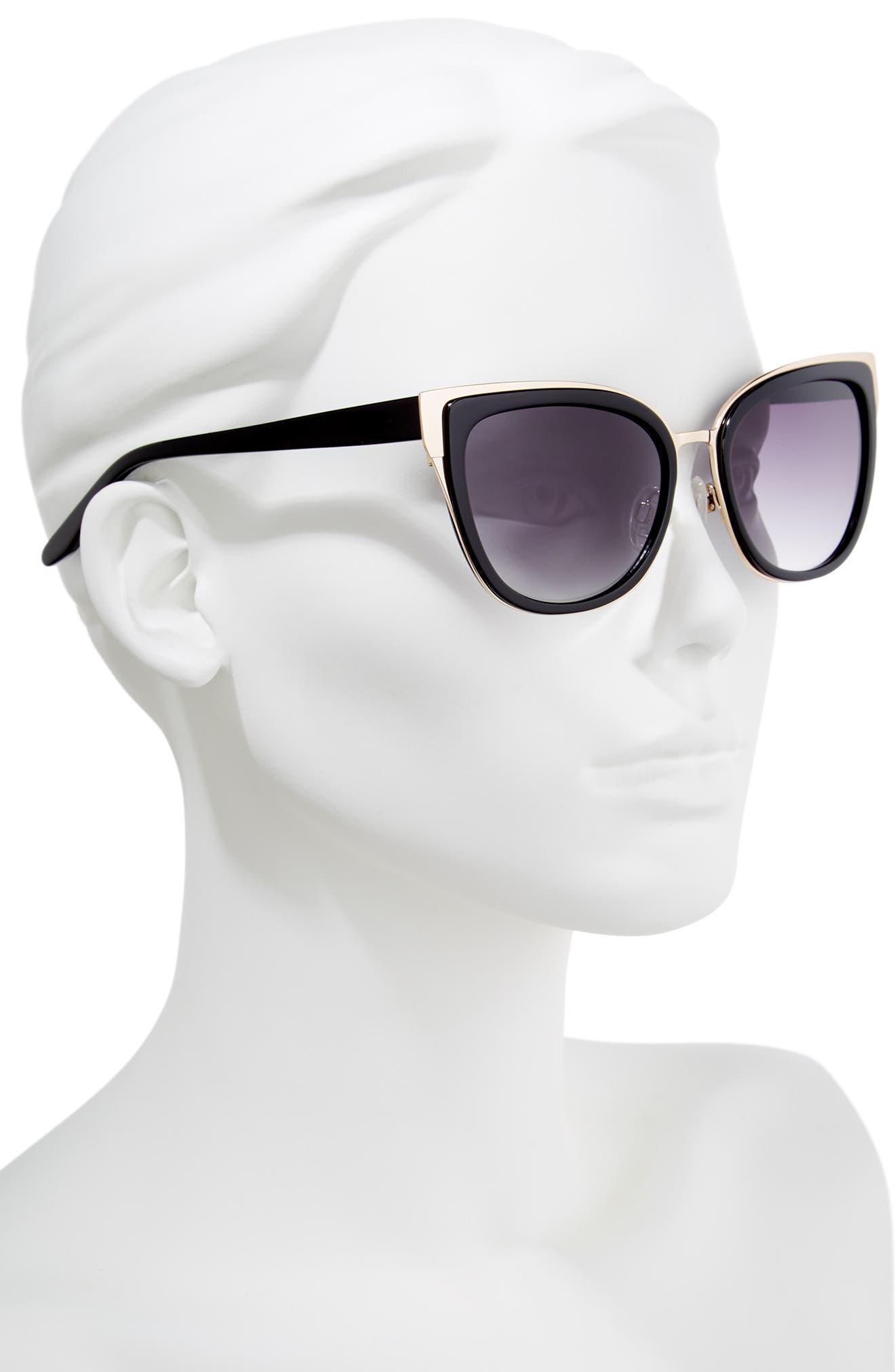 Lillian 56mm Sunglasses,                             Alternate thumbnail 2, color,                             001