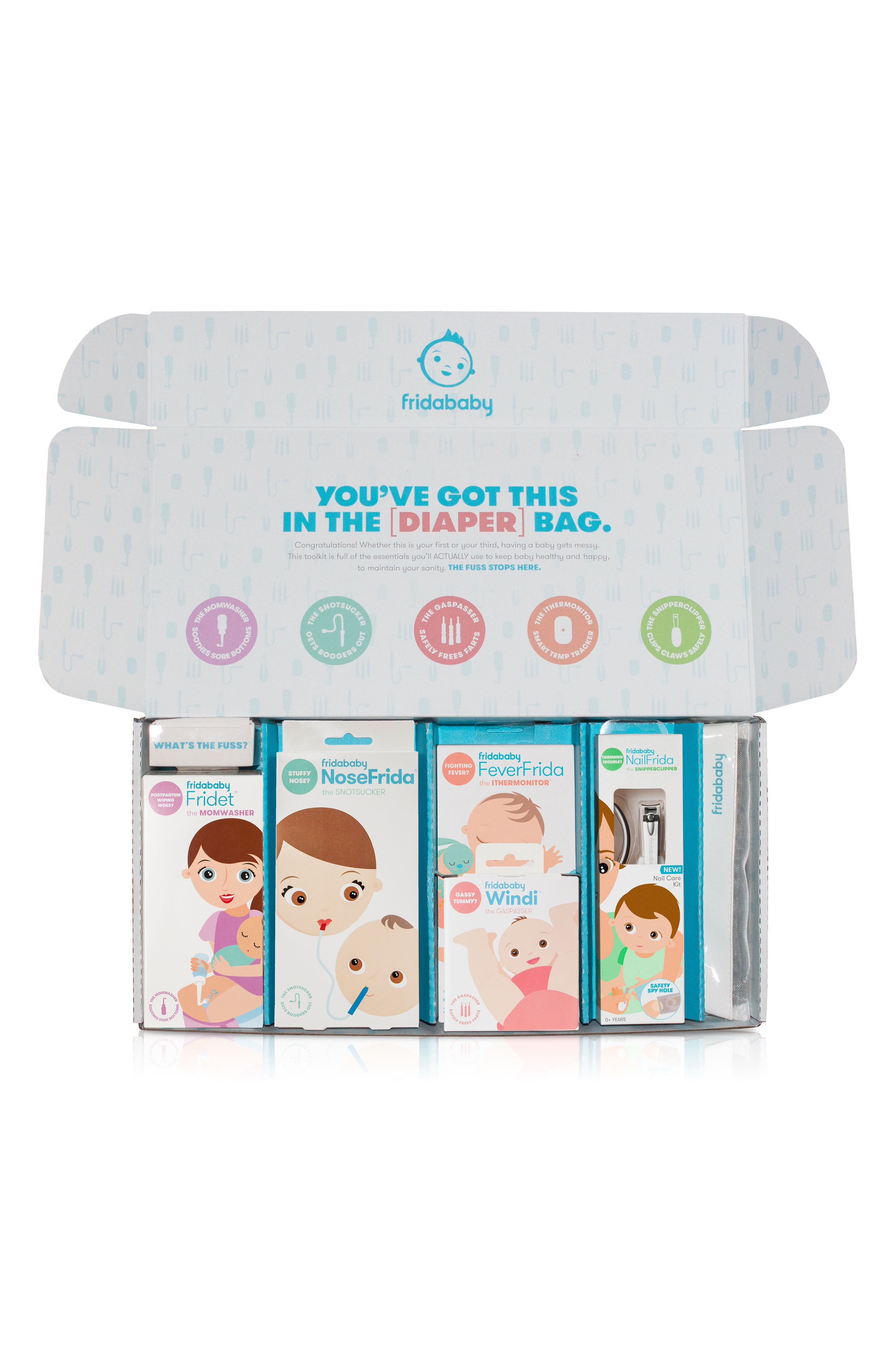 The Big Bundle Of Joy Newborn Care Kit,                             Alternate thumbnail 4, color,                             WHITE