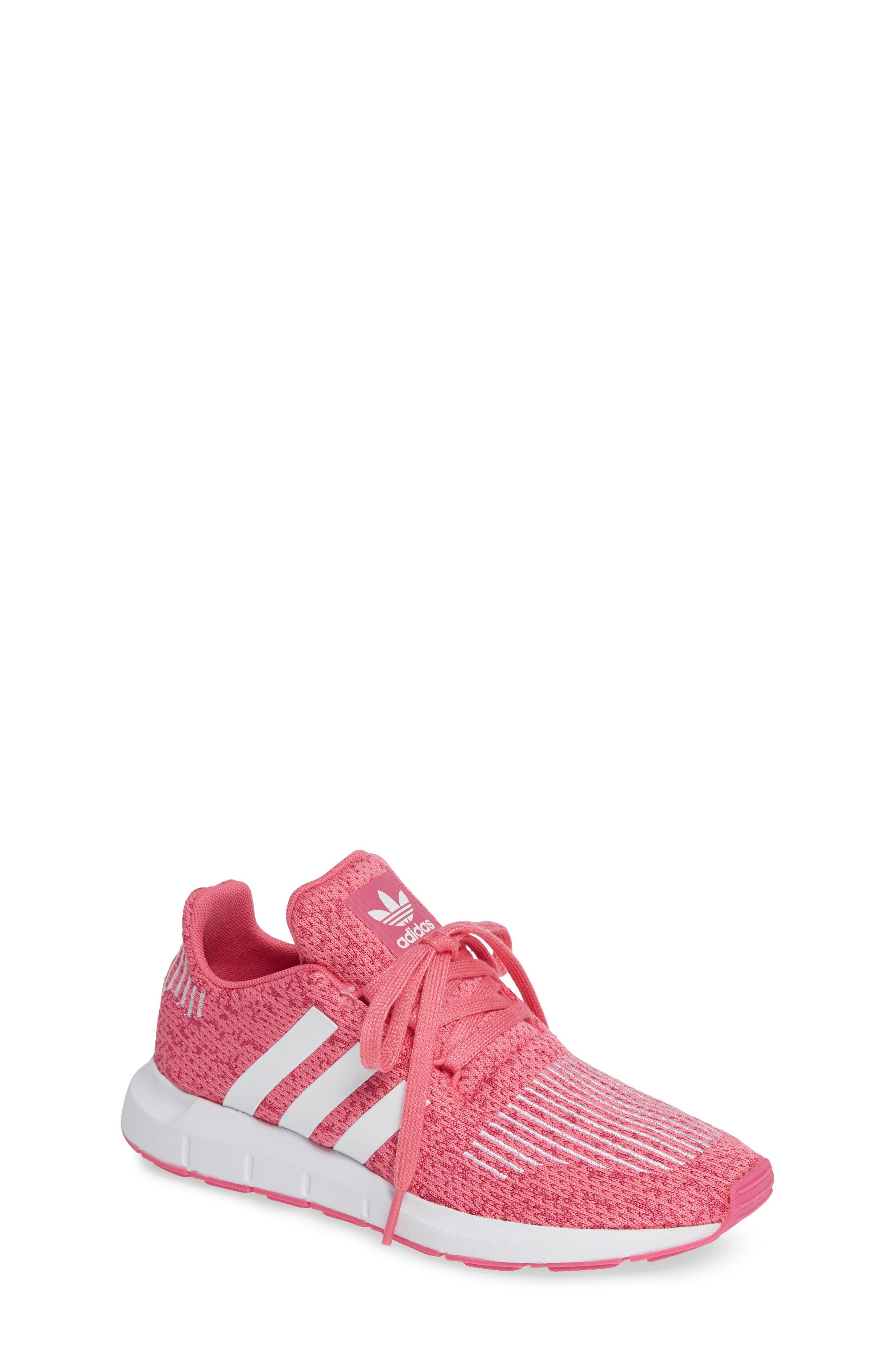 Swift Run J Sneaker,                         Main,                         color, SEMI SOLAR PINK/ WHITE