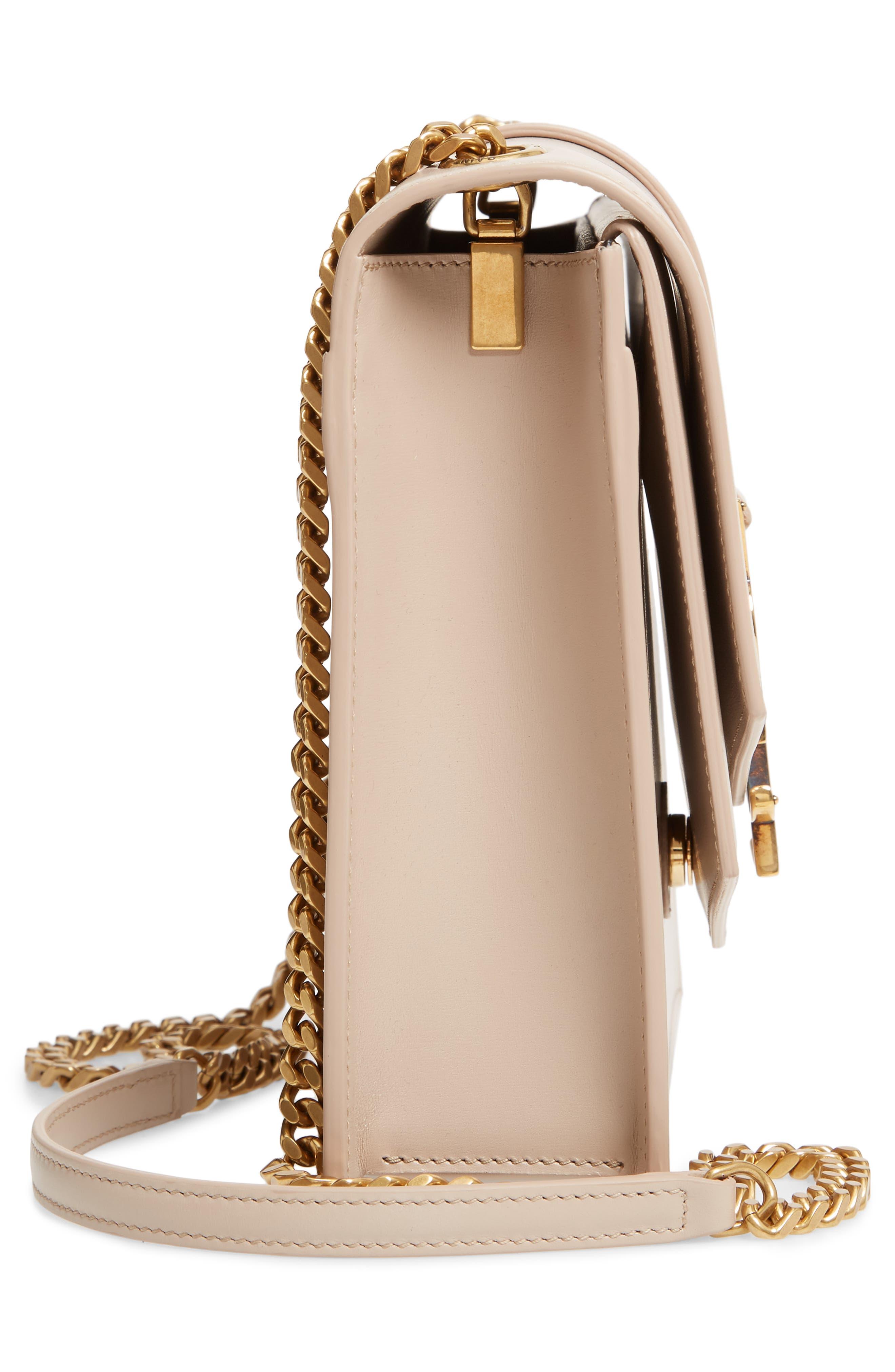 Sulpice Leather Shoulder Bag,                             Alternate thumbnail 5, color,                             LIGHT NATURAL