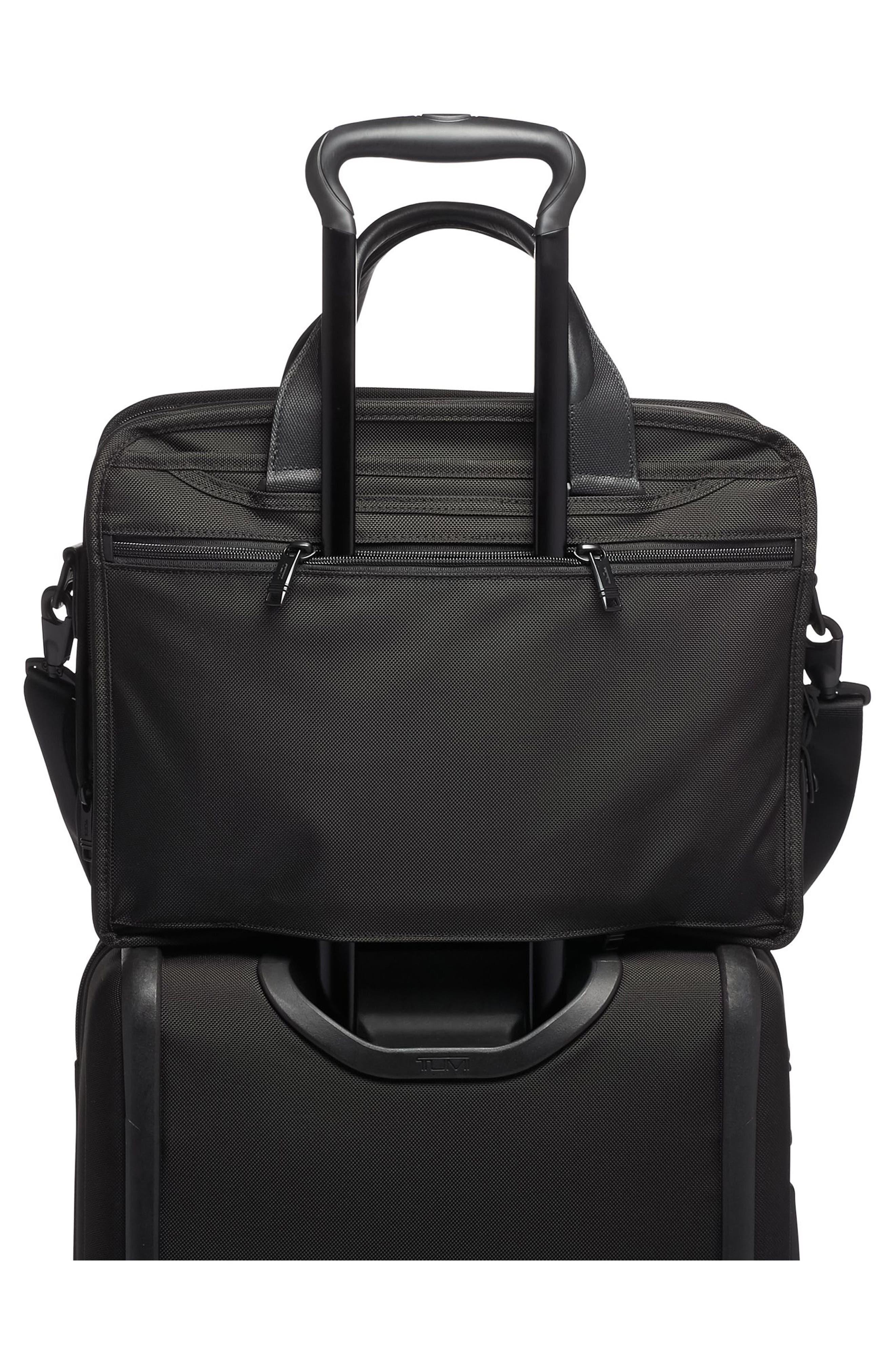TUMI,                             Alpha 3 T-Pass<sup>®</sup> Expandable Laptop Briefcase,                             Alternate thumbnail 2, color,                             BLACK