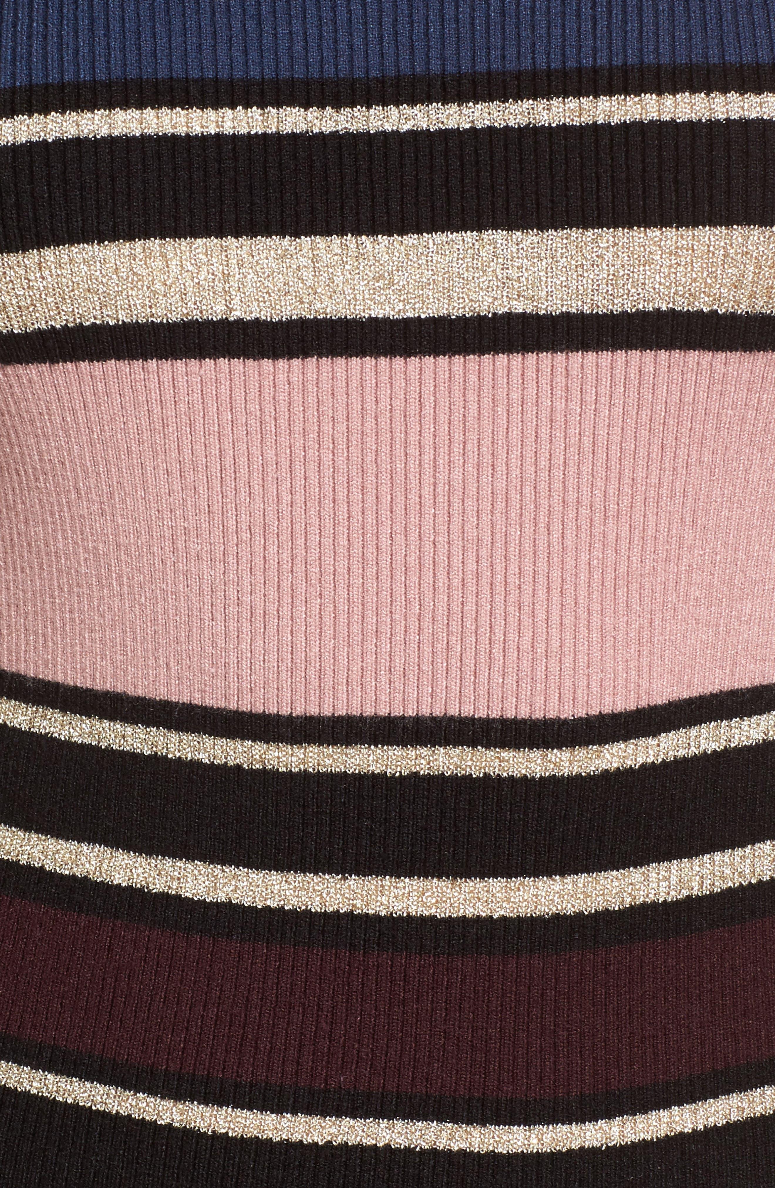 Barrow Stripe Midi Dress,                             Alternate thumbnail 5, color,                             960
