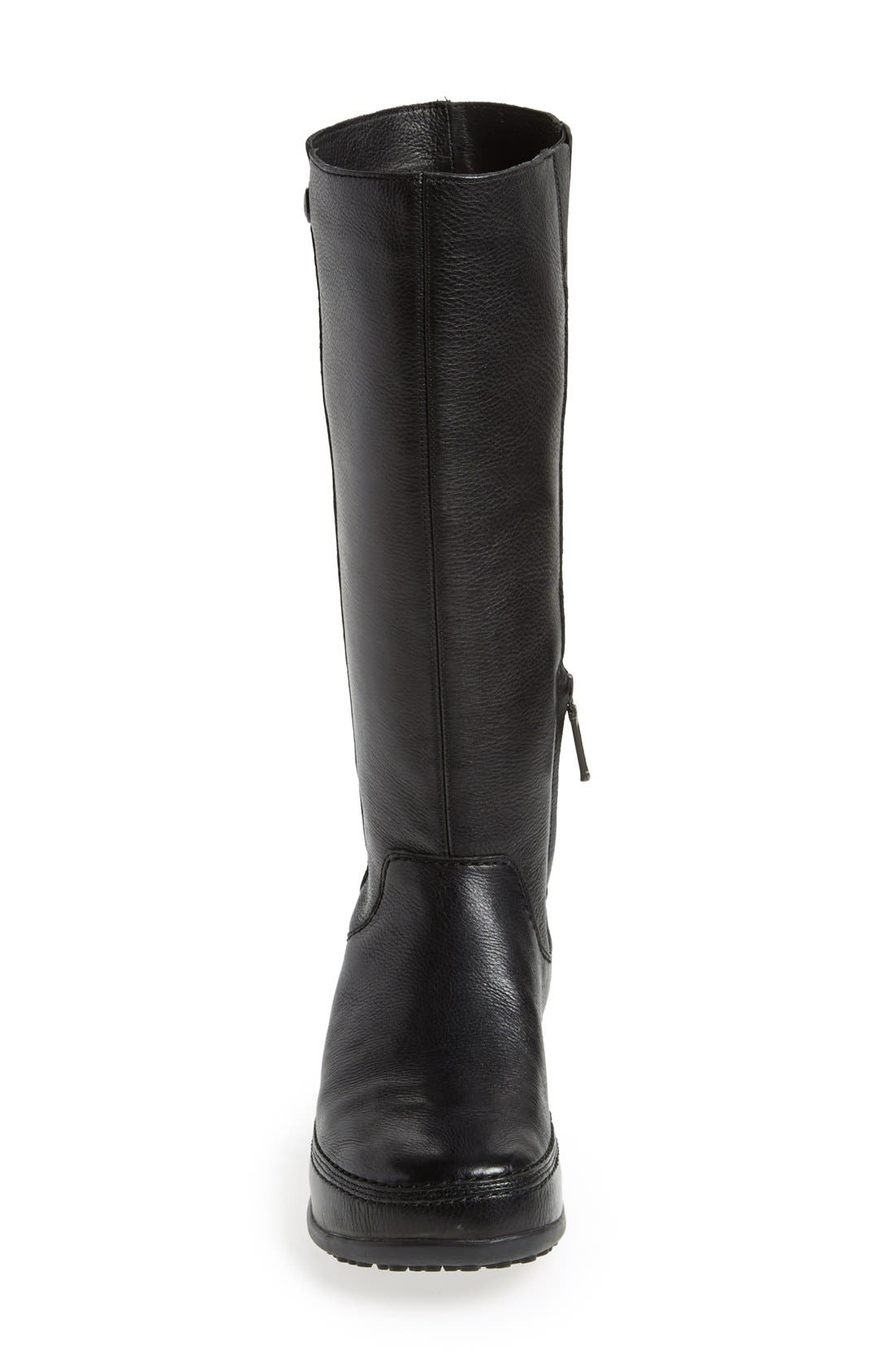 FITFLOP,                              'Superboot' Leather Boot,                             Alternate thumbnail 6, color,                             018