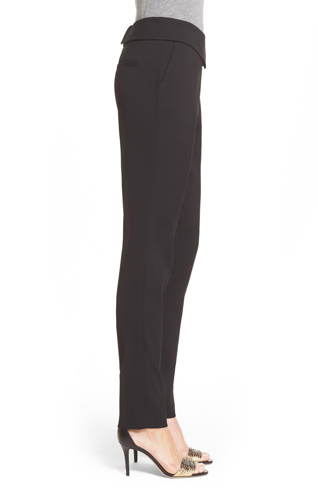 'Delray' Foldover Trousers,                             Alternate thumbnail 2, color,