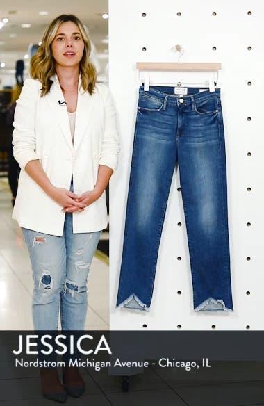Le High Straight High Waist Triangle Hem Jeans, sales video thumbnail