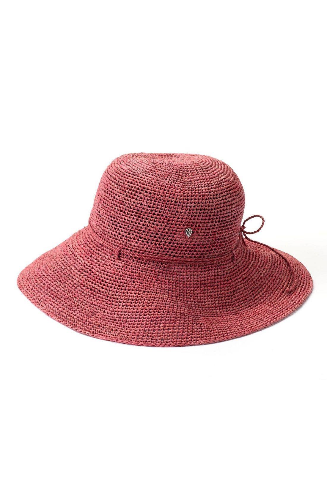 'Provence 12' Packable Raffia Hat,                             Main thumbnail 18, color,
