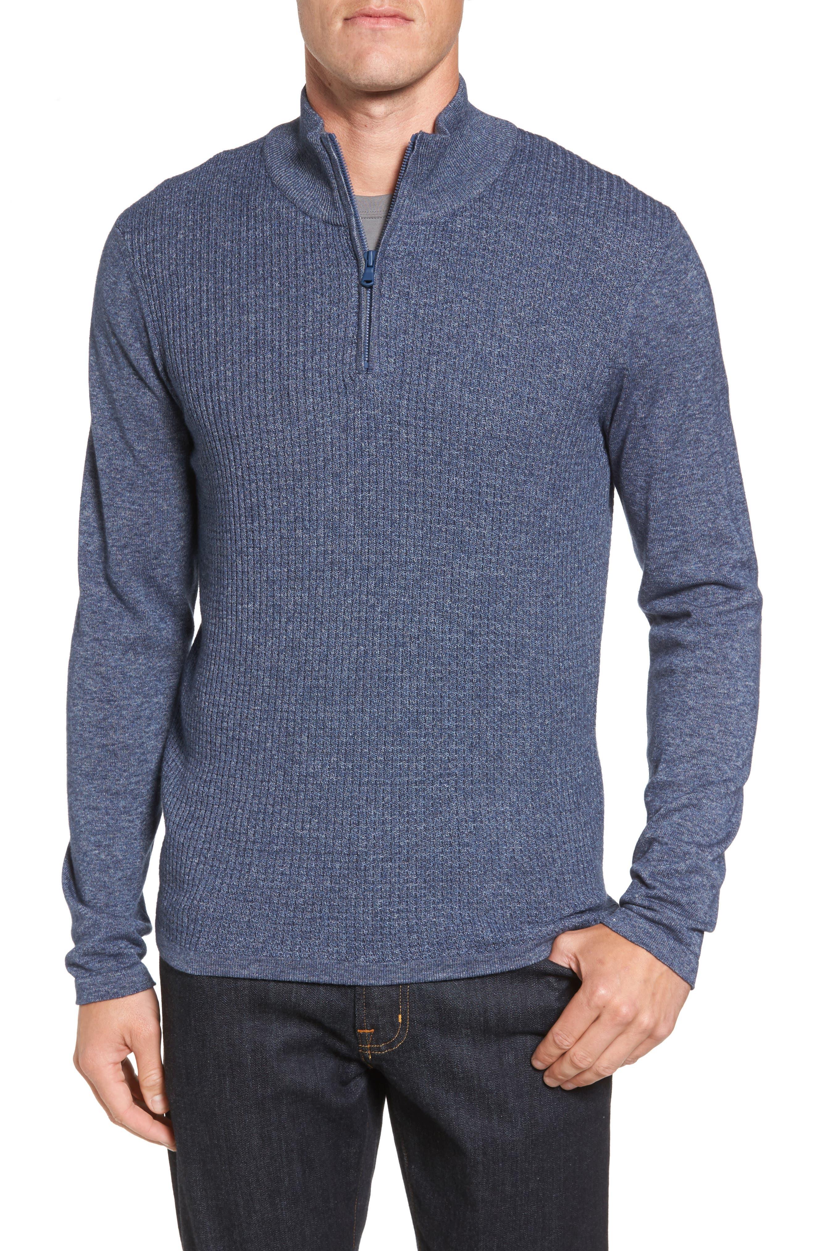 Higgins Quarter Zip Sweater,                             Main thumbnail 3, color,