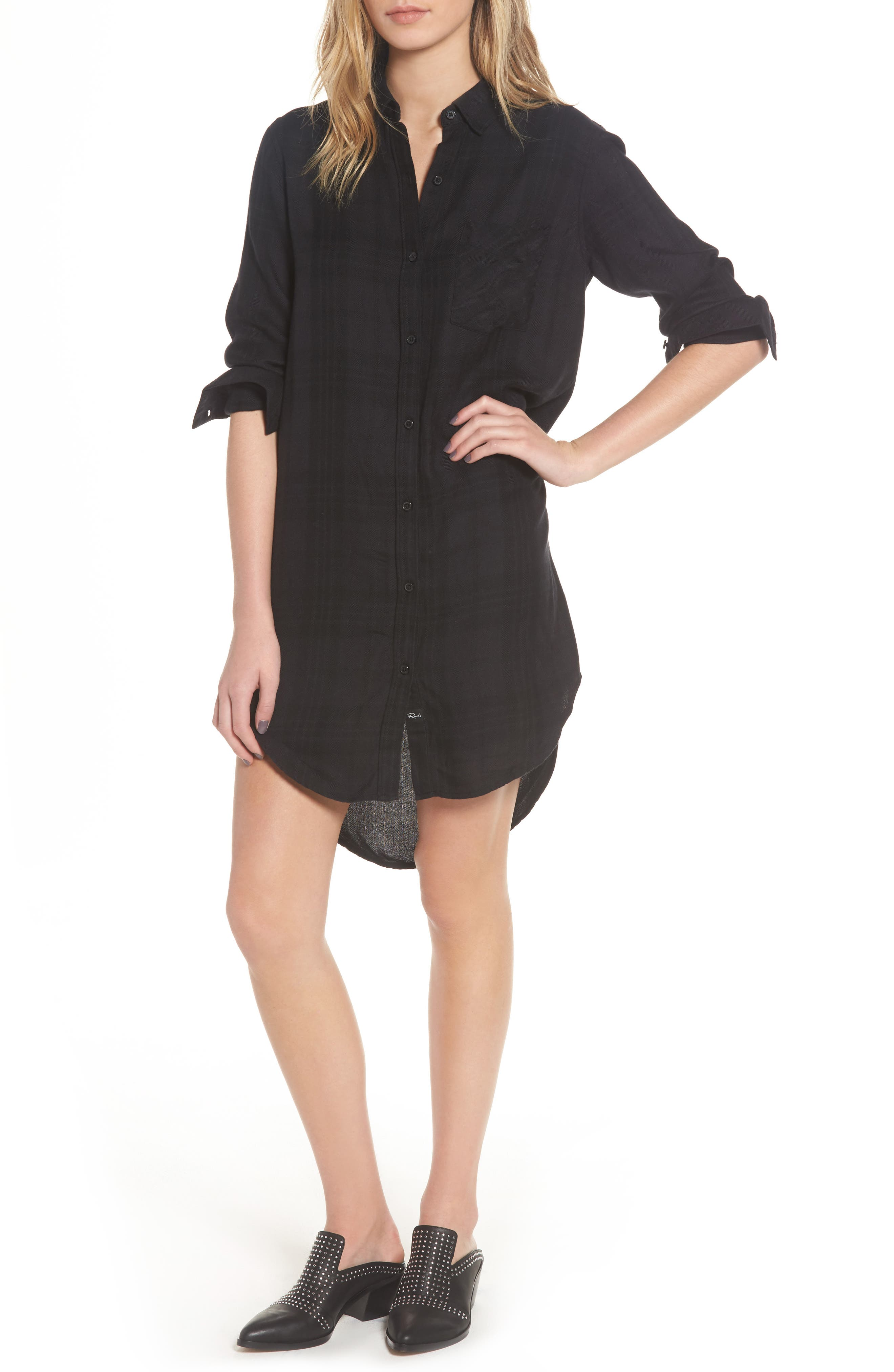 Bianca Shirtdress,                         Main,                         color, ONYX/ JET