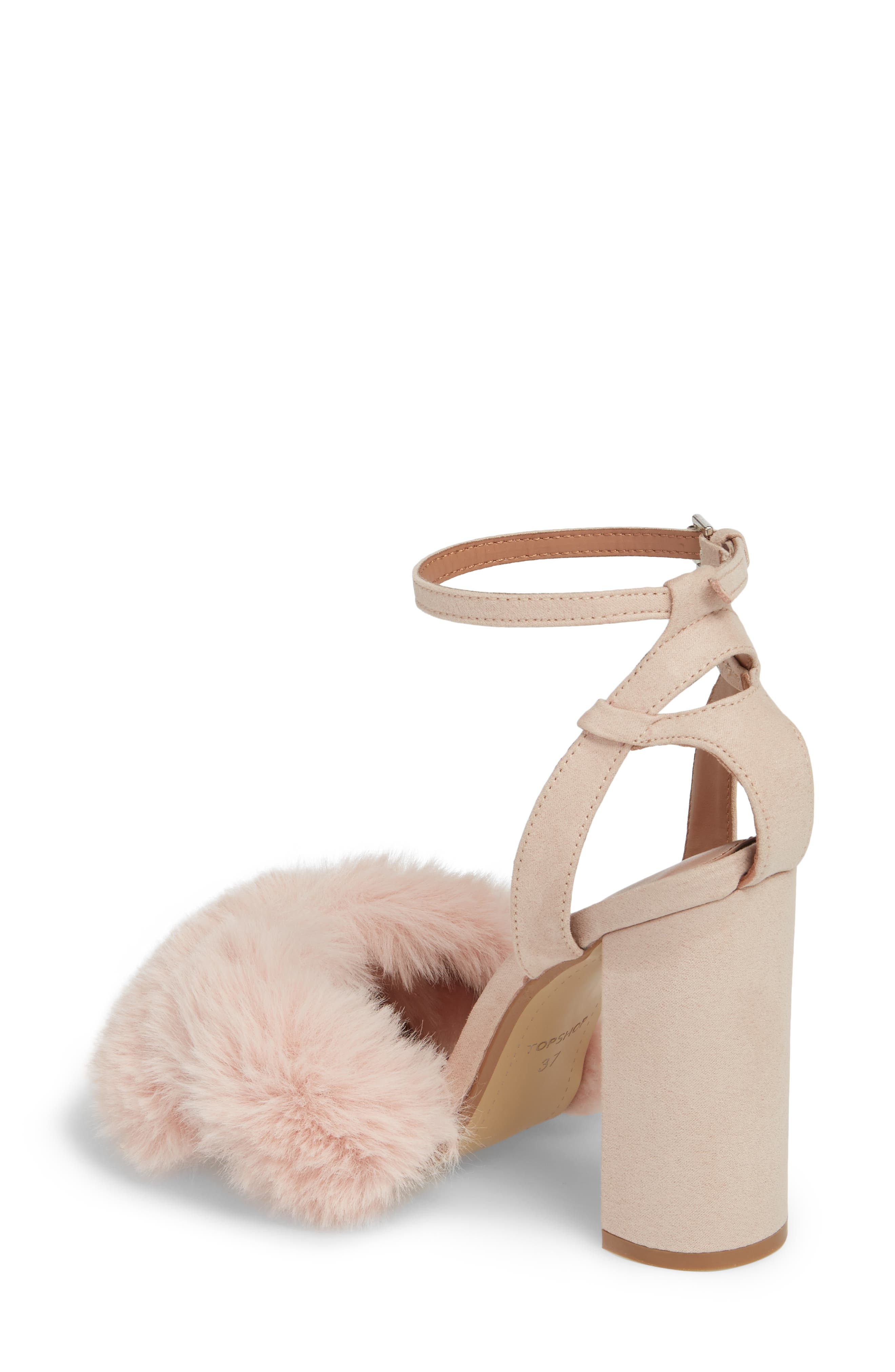 Sassy Faux Fur Sandal,                             Alternate thumbnail 6, color,