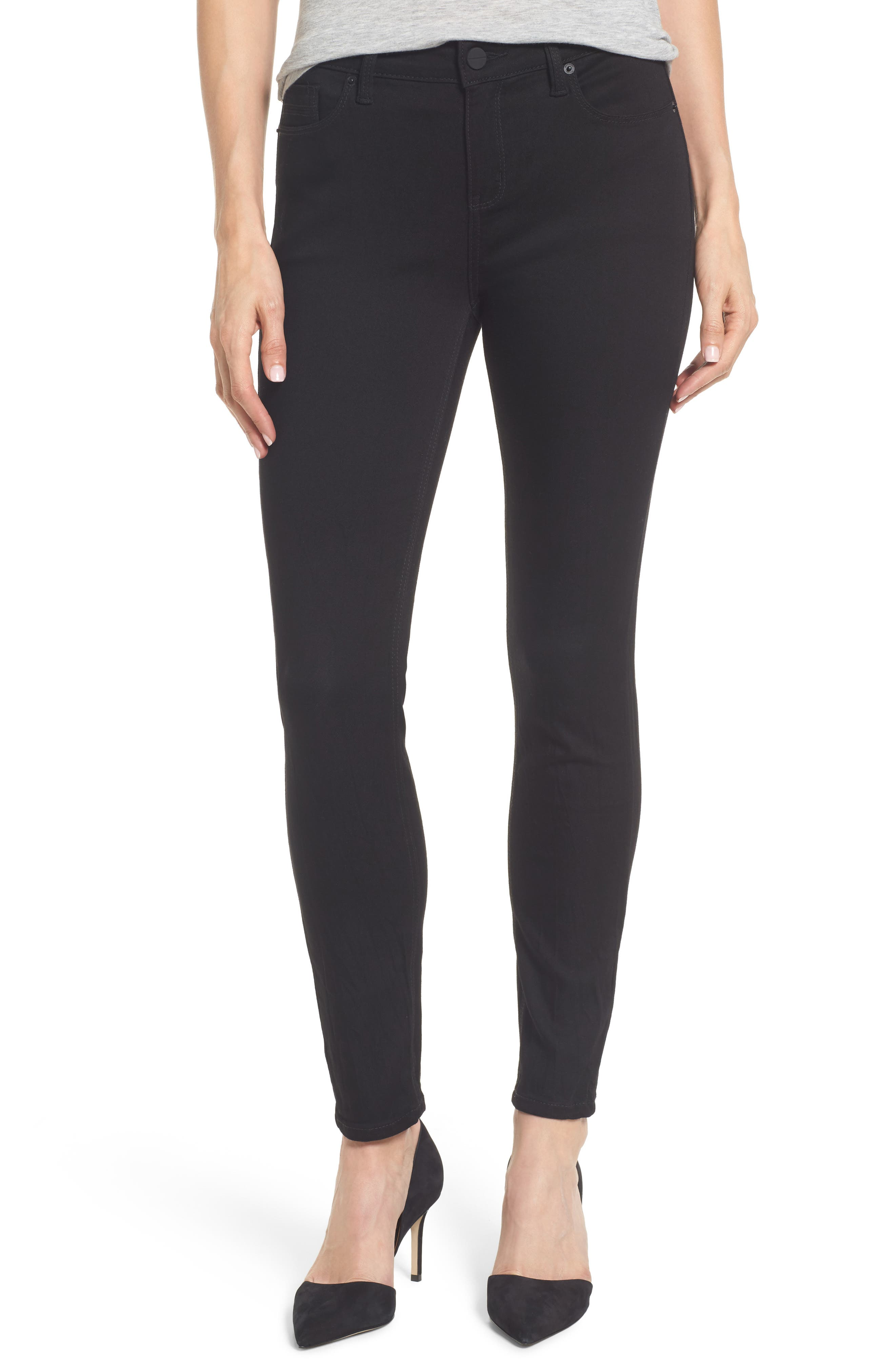 Skinny Jeans,                             Main thumbnail 1, color,                             BLACK