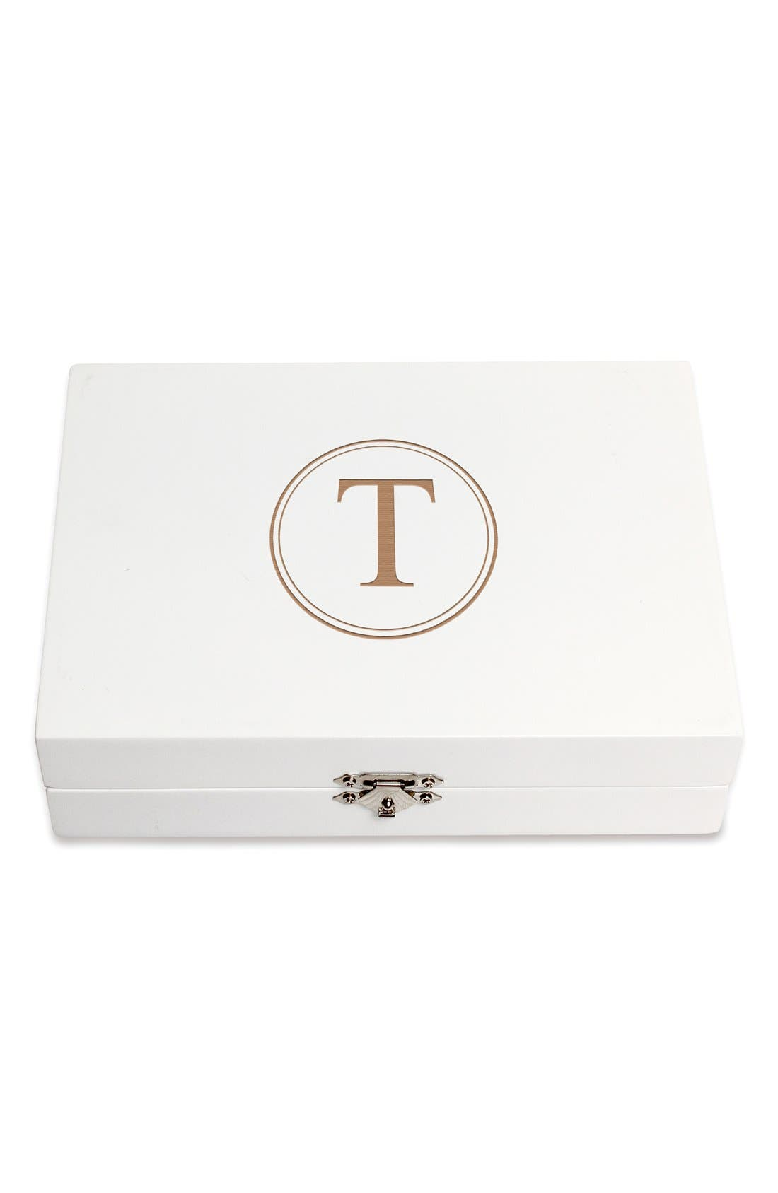 Monogram Wooden Jewelry Box,                             Main thumbnail 49, color,