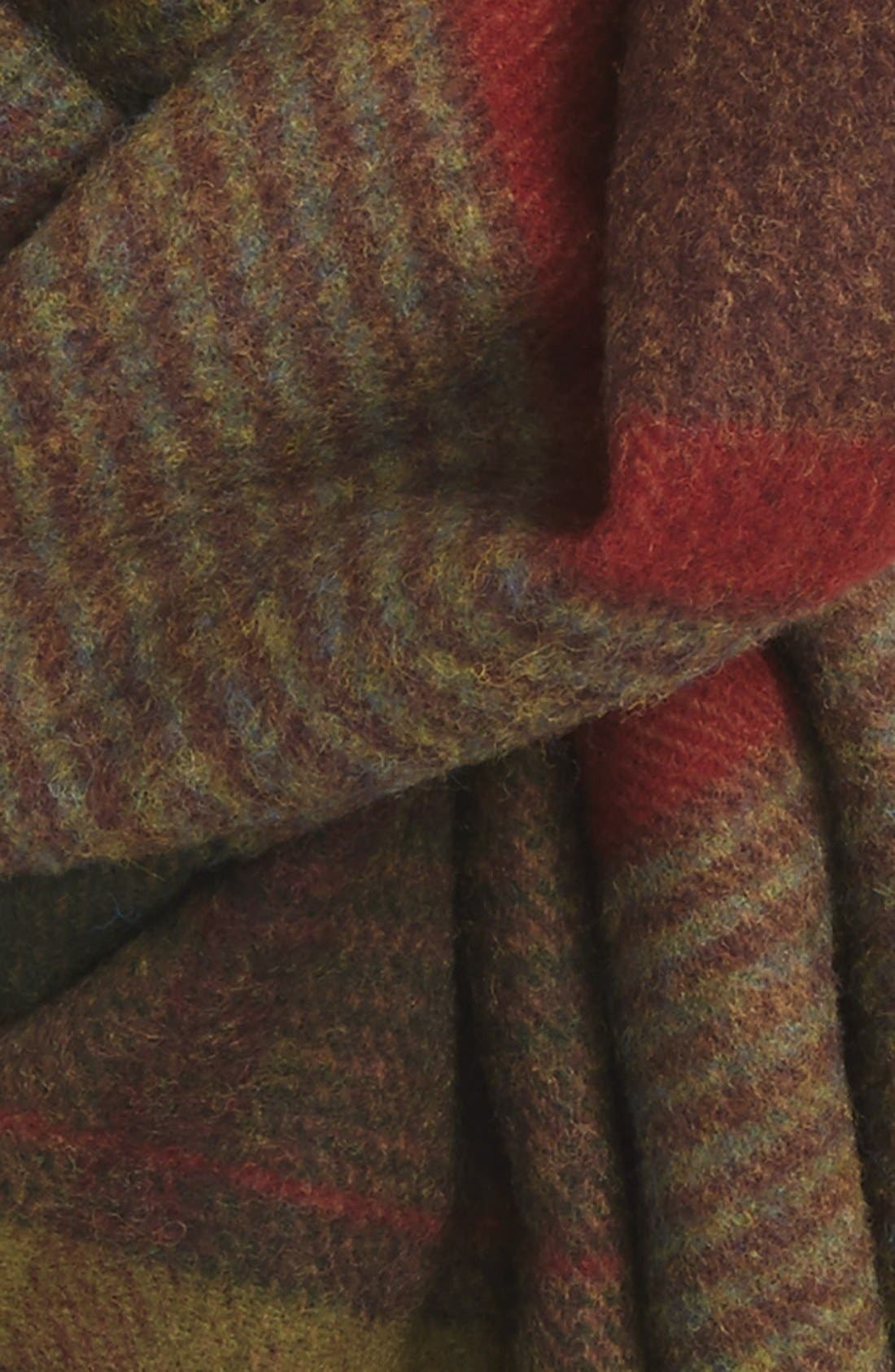 BARBOUR,                             'New Country Plaid' Lambswool Scarf,                             Alternate thumbnail 2, color,                             340