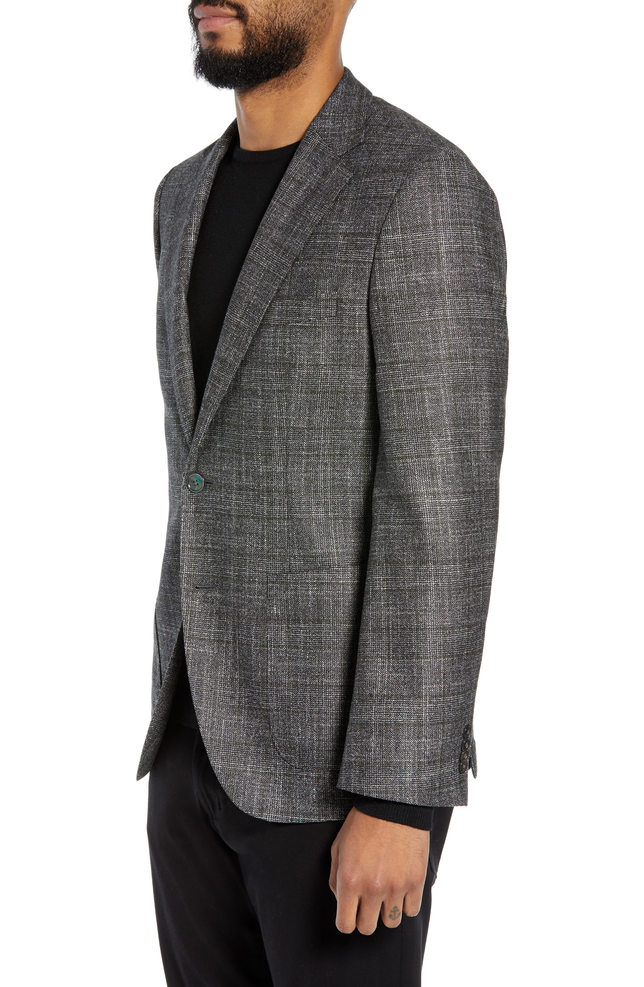 Janson Trim Fit Plaid Wool Blend Sport Coat,                             Alternate thumbnail 3, color,                             061