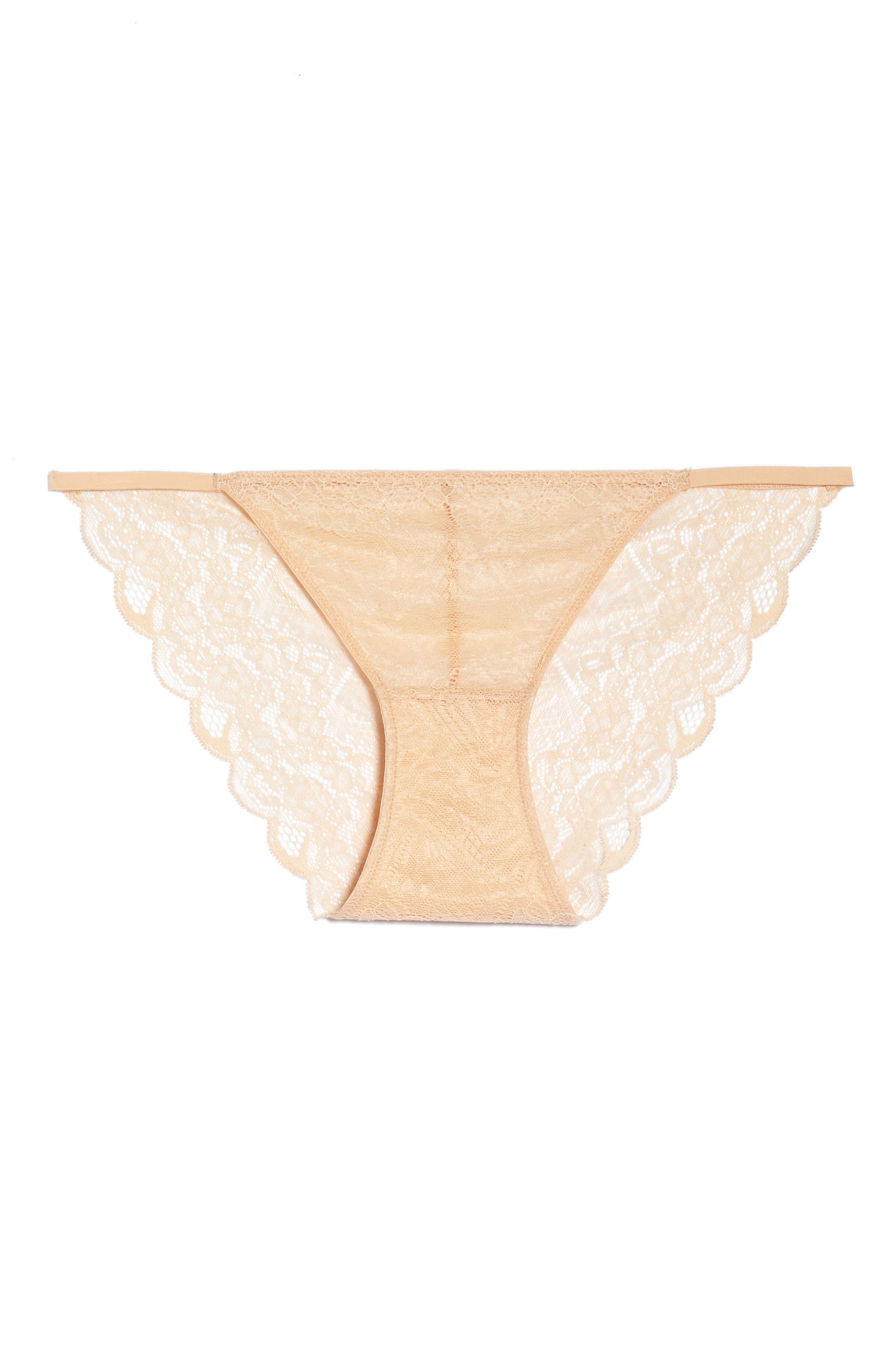 Lace String Bikini,                             Alternate thumbnail 6, color,                             VOILE PINK