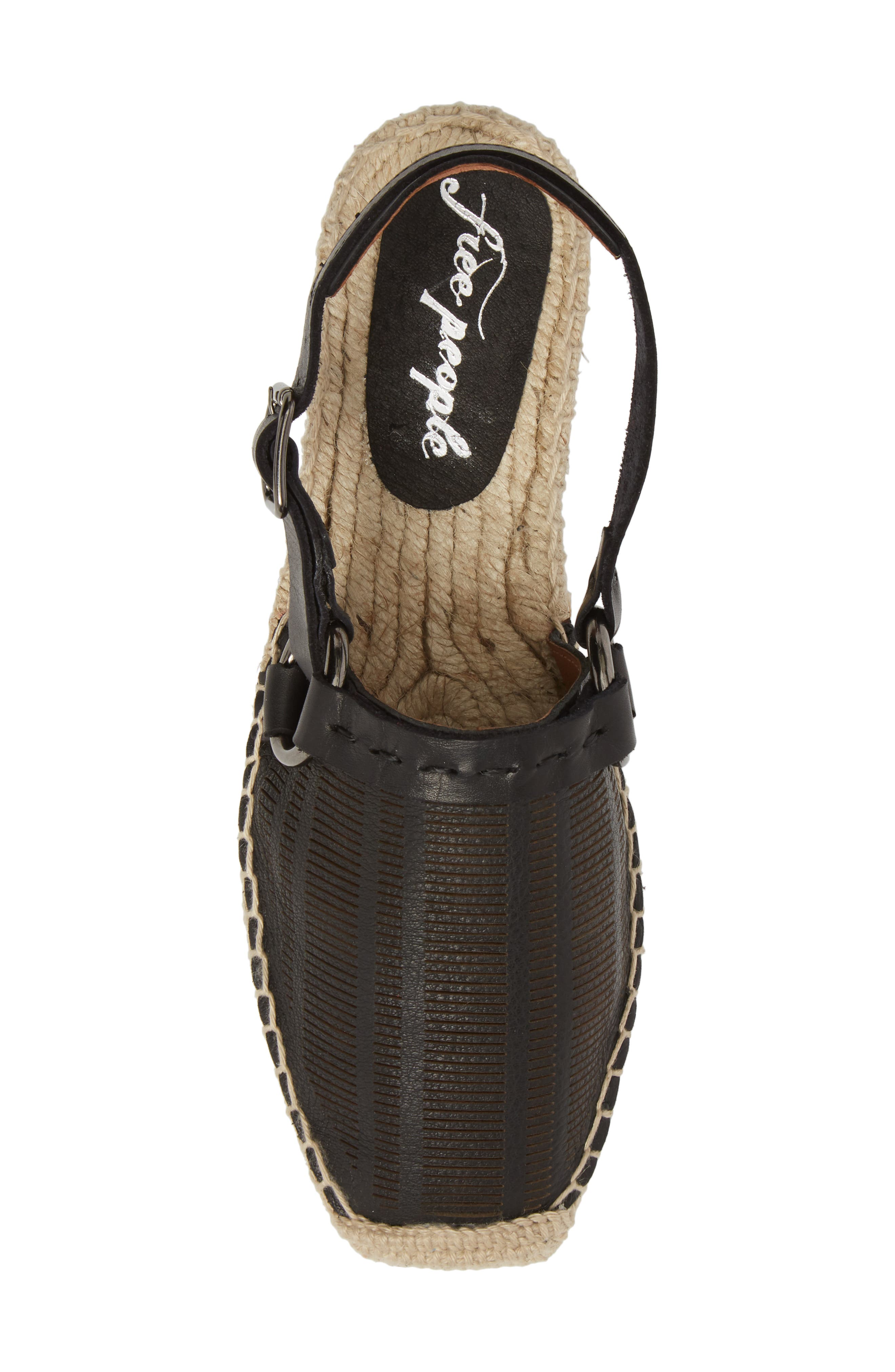 FREE PEOPLE,                             Cabo Espadrille Flat,                             Alternate thumbnail 5, color,                             001