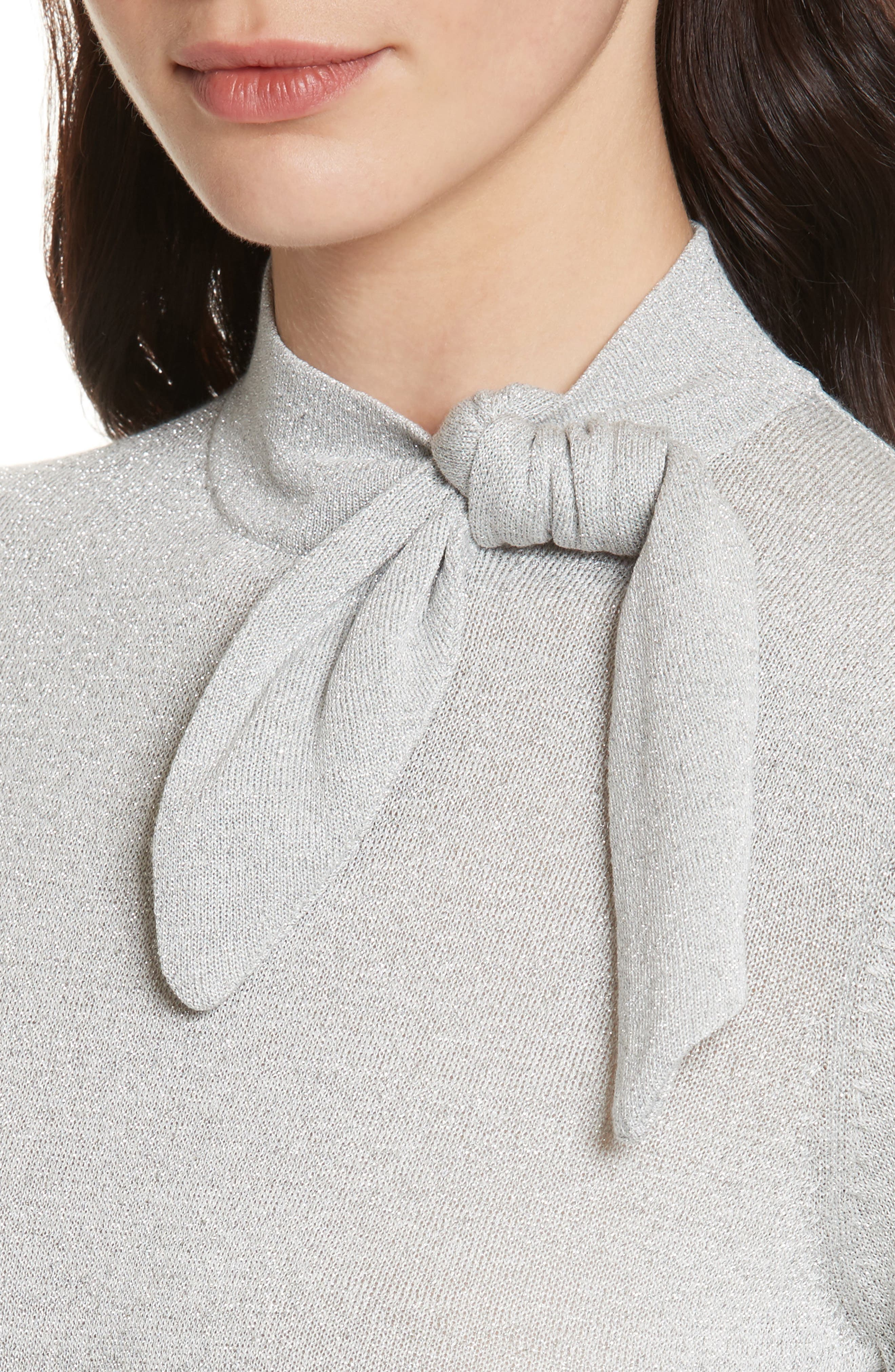 metallic knot sweater,                             Alternate thumbnail 4, color,                             044