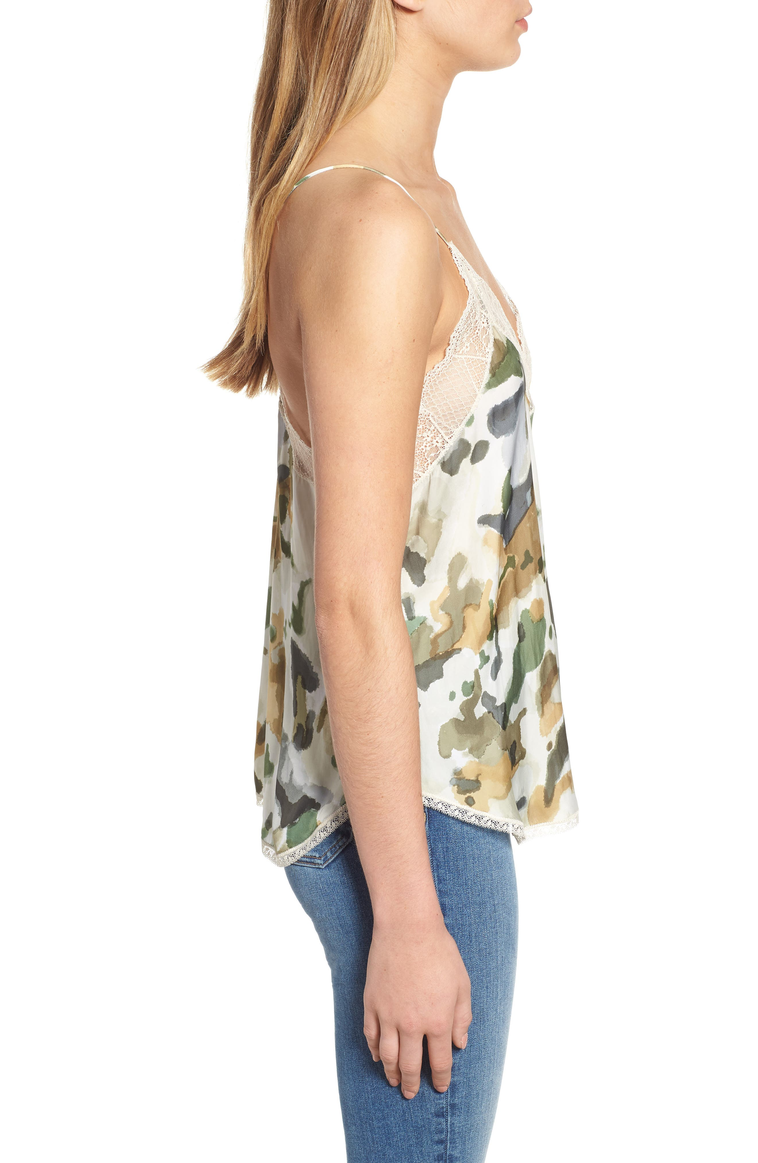 Christy Camouflage Camisole,                             Alternate thumbnail 3, color,                             BEIGE