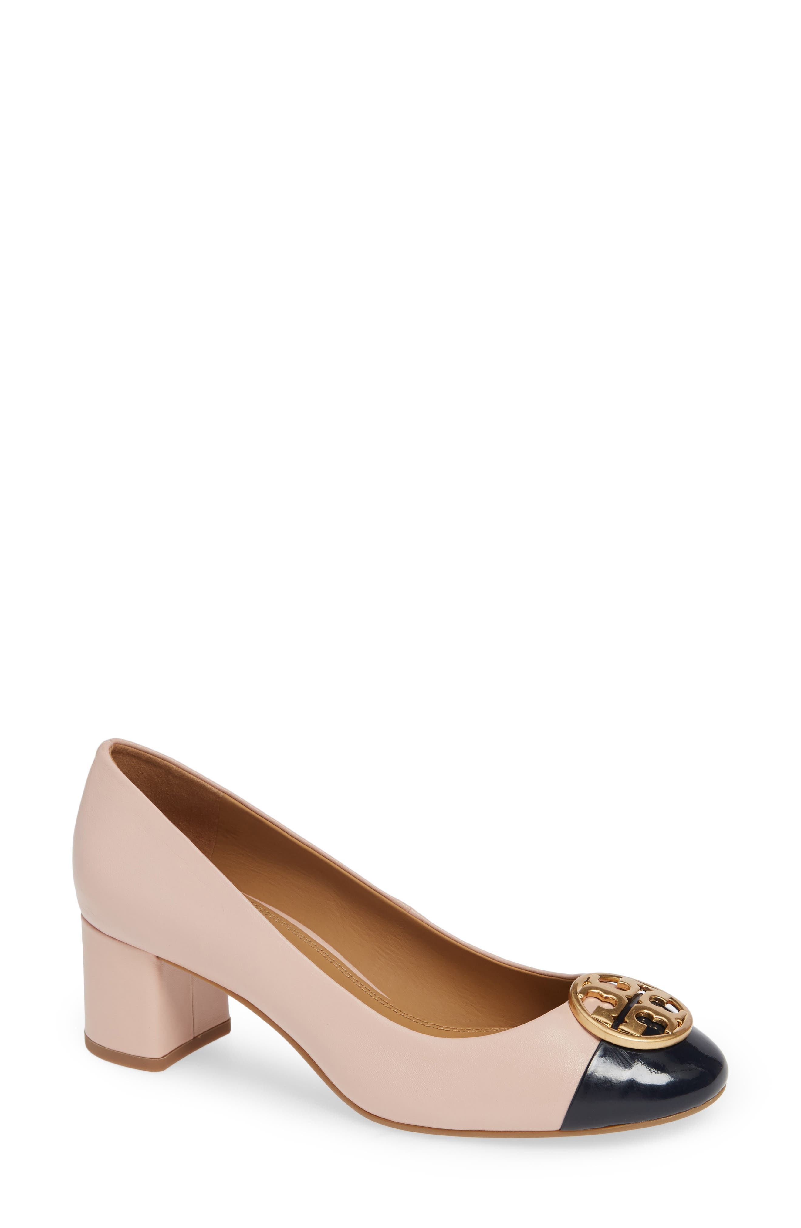 Chelsea Pump,                         Main,                         color, SEA SHELL PINK/ PERFECT NAVY