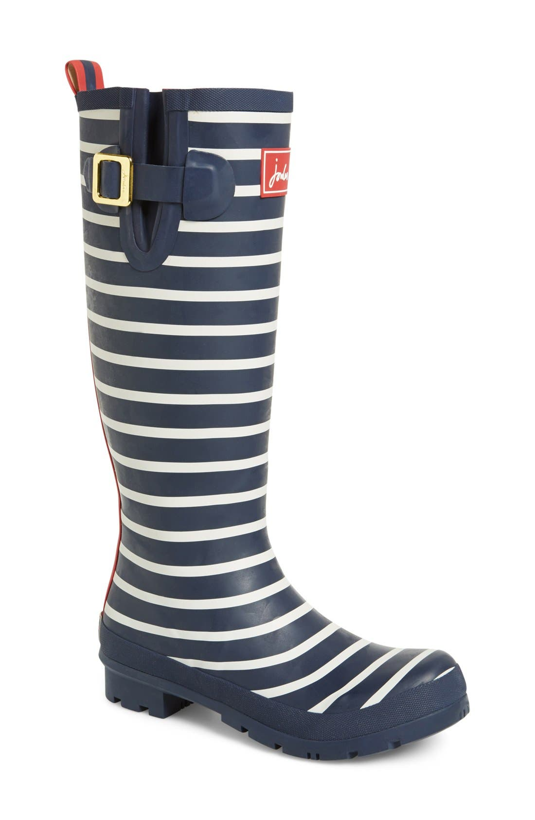 'Welly' Print Rain Boot,                             Main thumbnail 38, color,