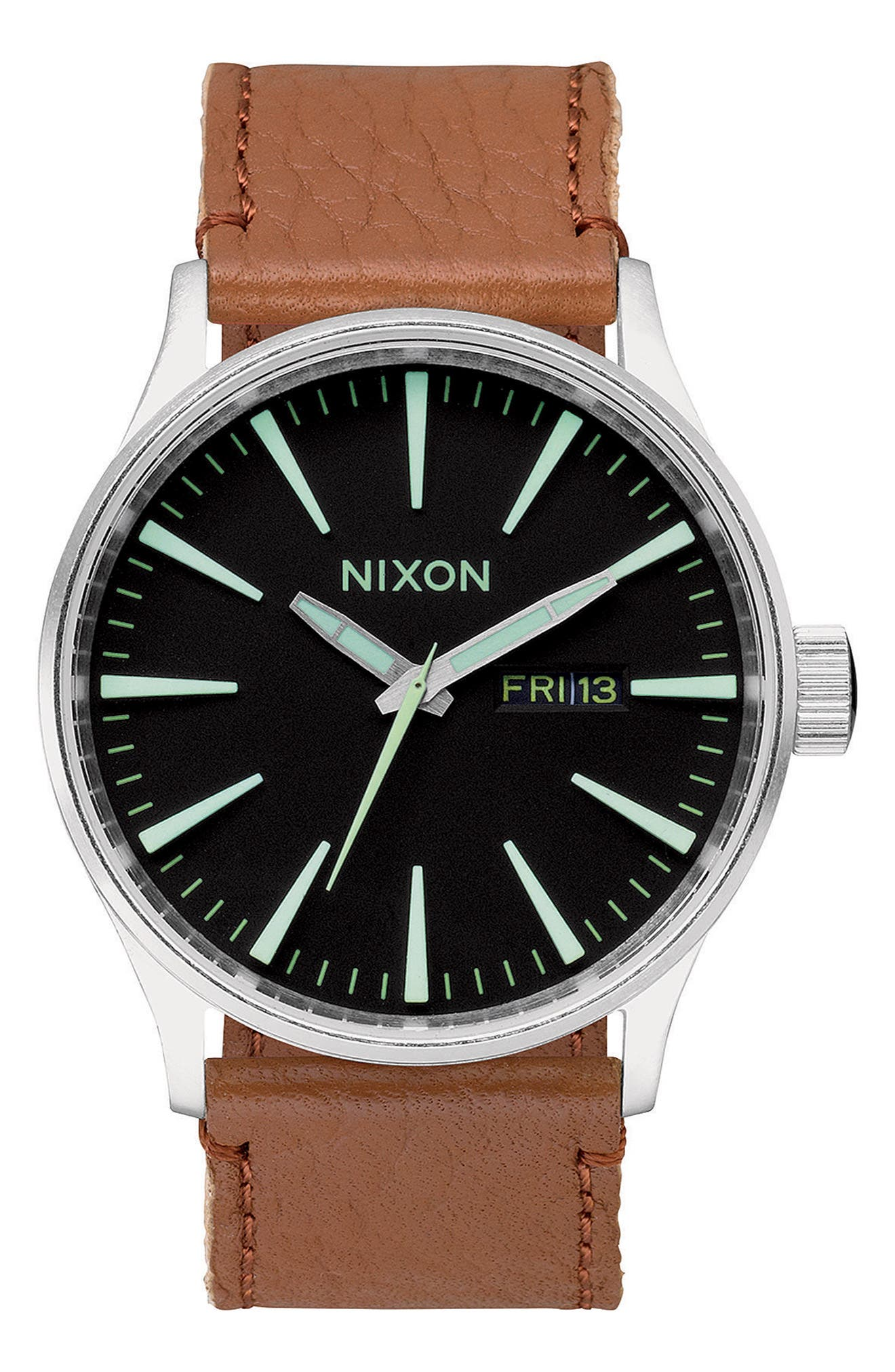 The Sentry Leather Strap Watch, 42mm,                             Alternate thumbnail 58, color,