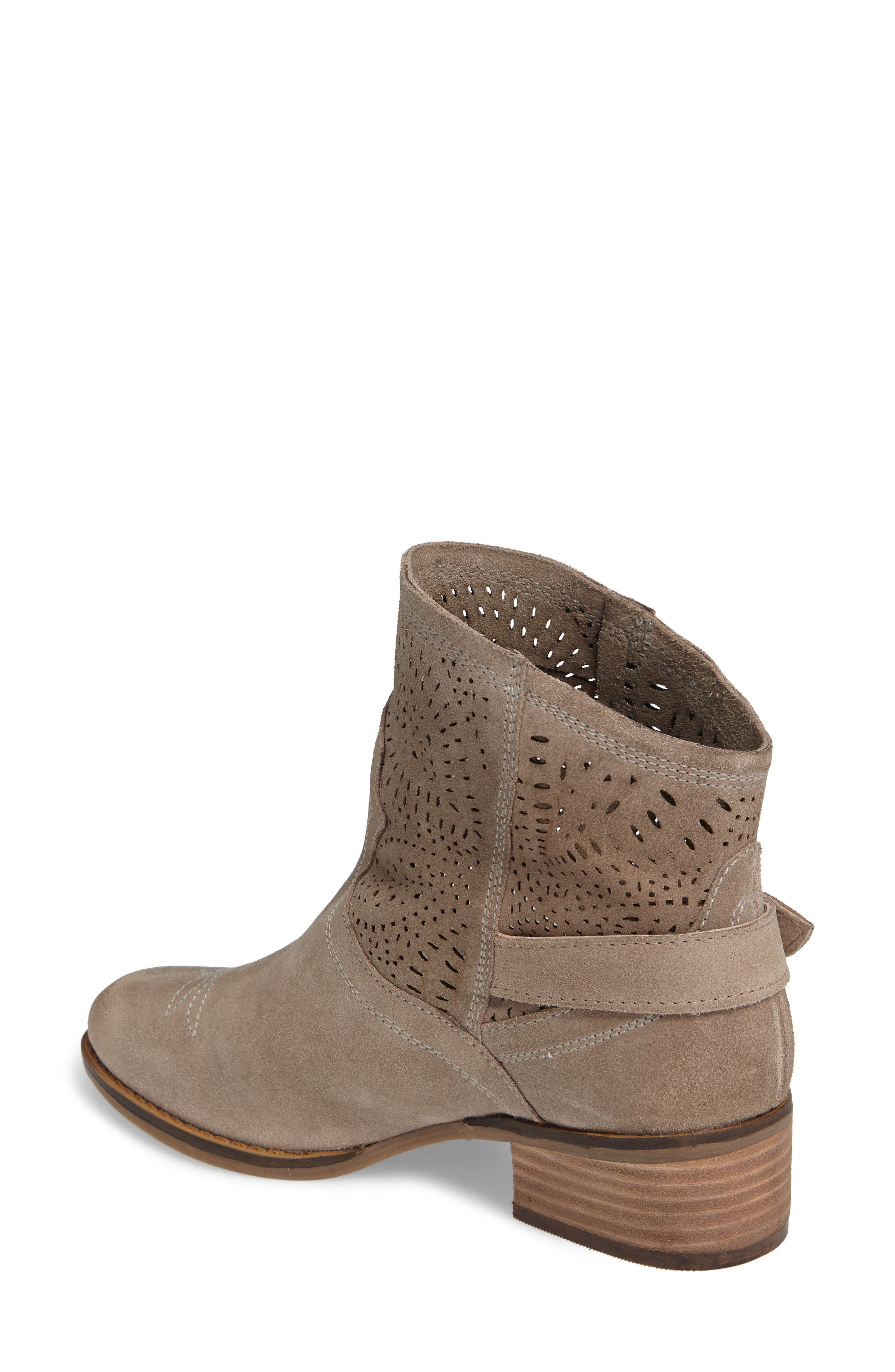 Zoey Perforated Bootie,                             Alternate thumbnail 7, color,