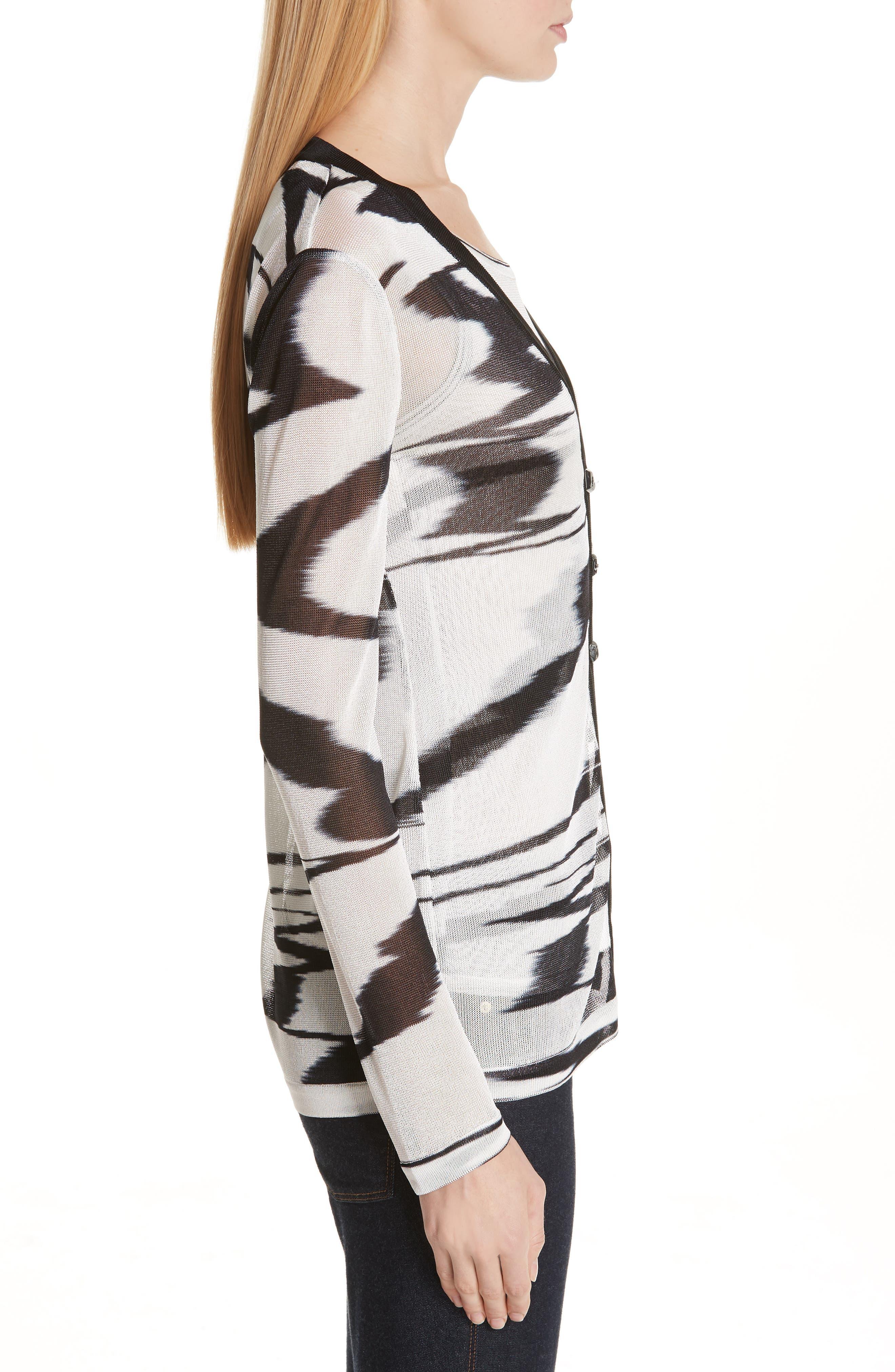 Space Dye Cardigan,                             Alternate thumbnail 3, color,                             F0009 BLACK/ WHITE