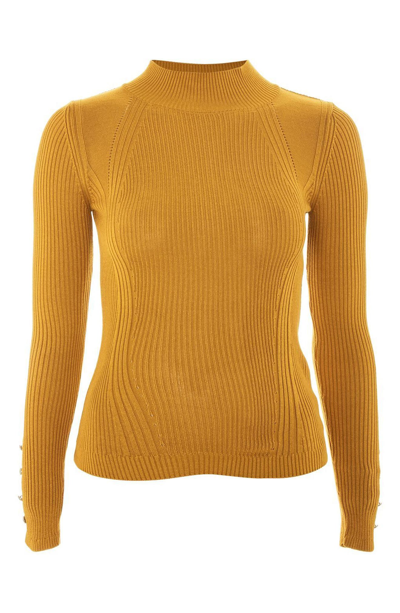 Button Cuff Sweater,                             Alternate thumbnail 6, color,