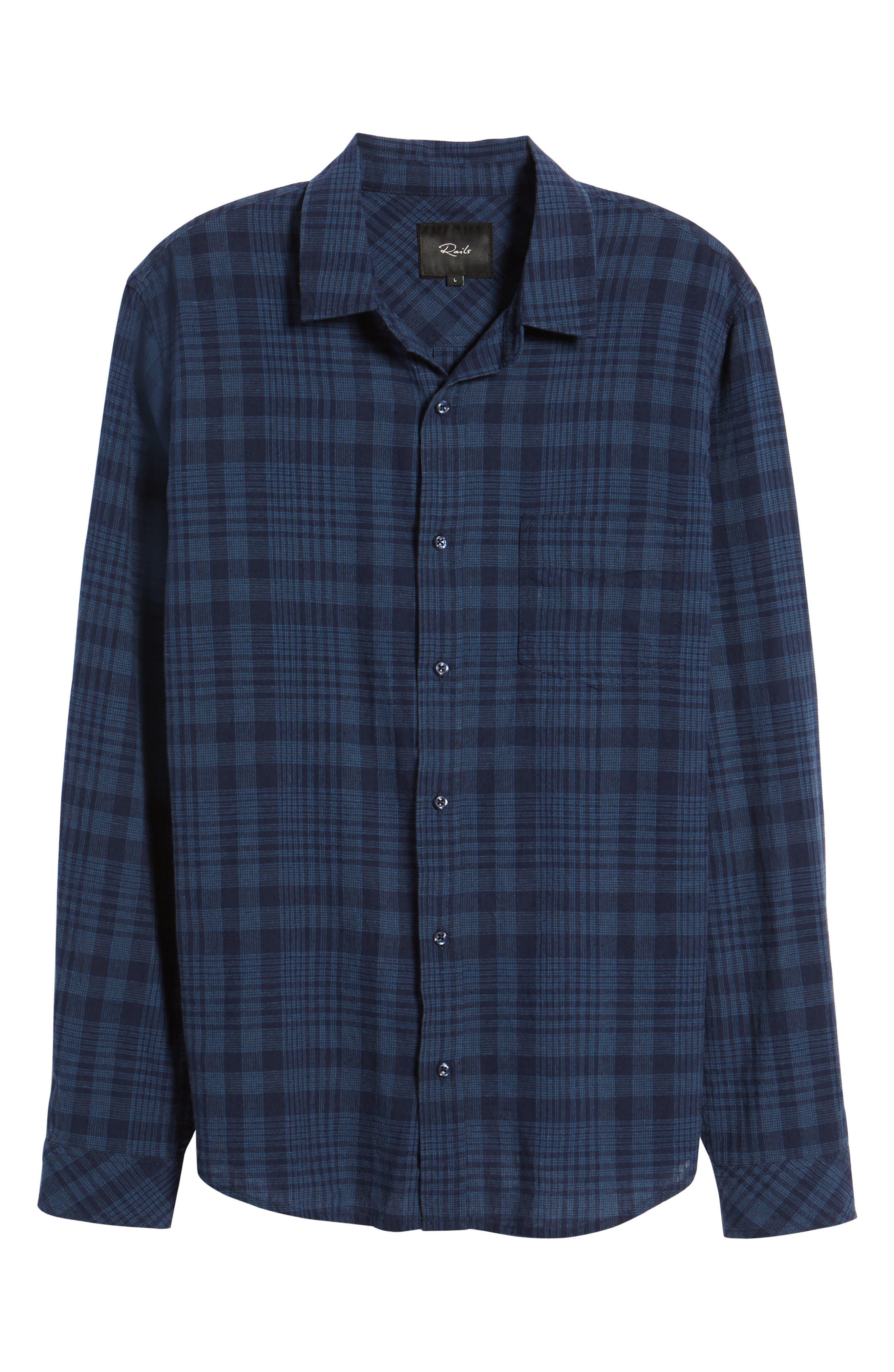 Connor Plaid Linen Blend Sport Shirt,                             Alternate thumbnail 6, color,                             497