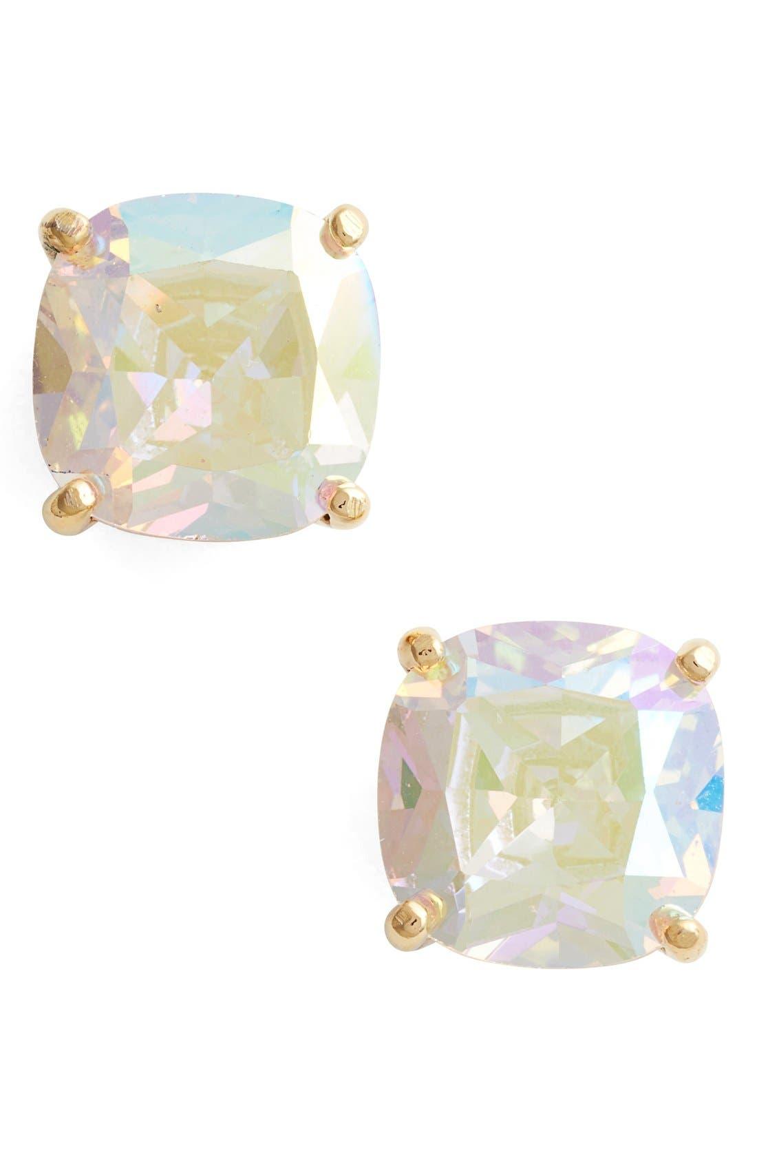 mini stud earrings,                         Main,                         color, CLEAR/ ABALONE