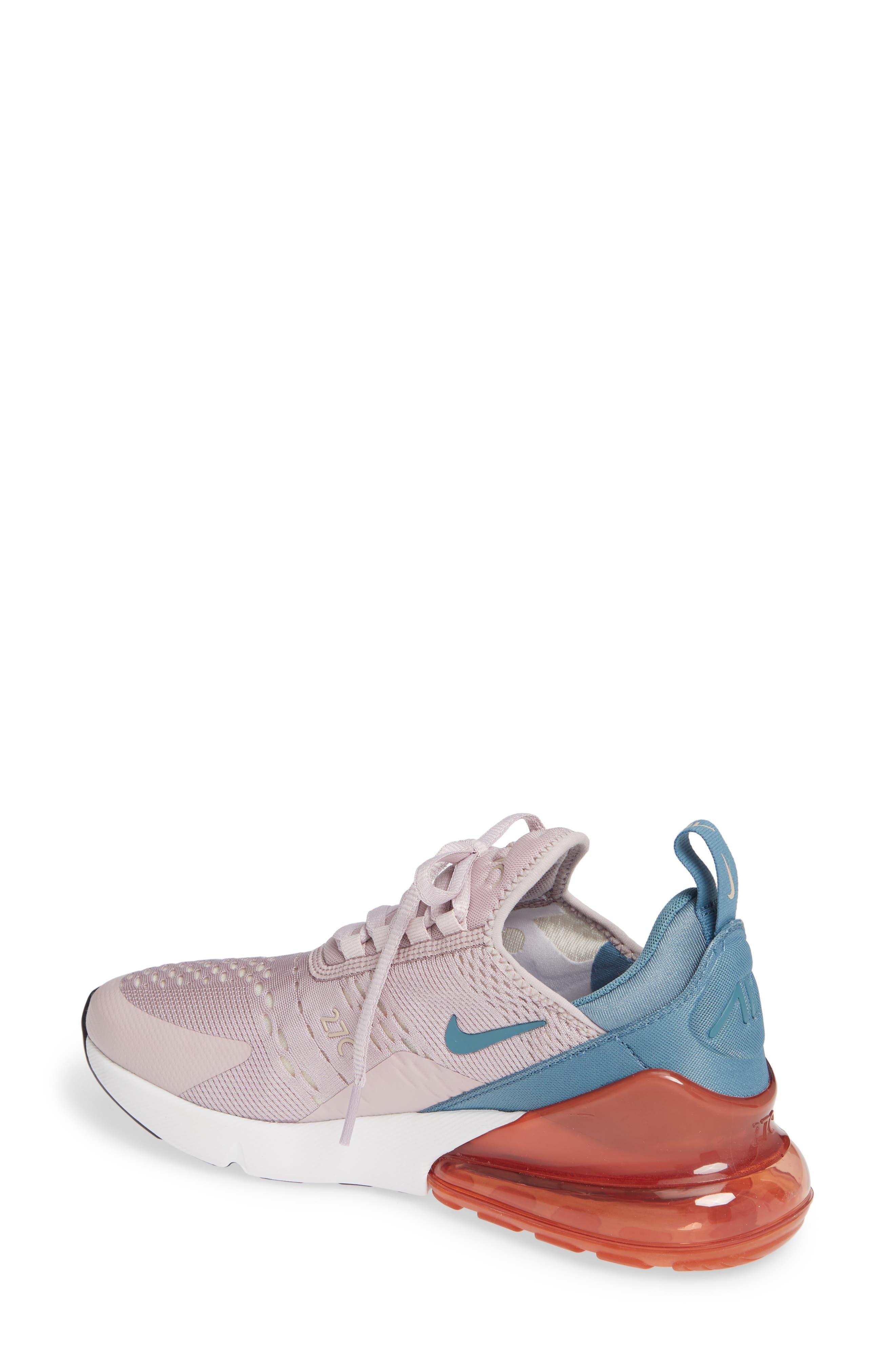 Air Max 270 Premium Sneaker,                             Alternate thumbnail 2, color,                             PARTICLE ROSE/ CELESTIAL TEAL