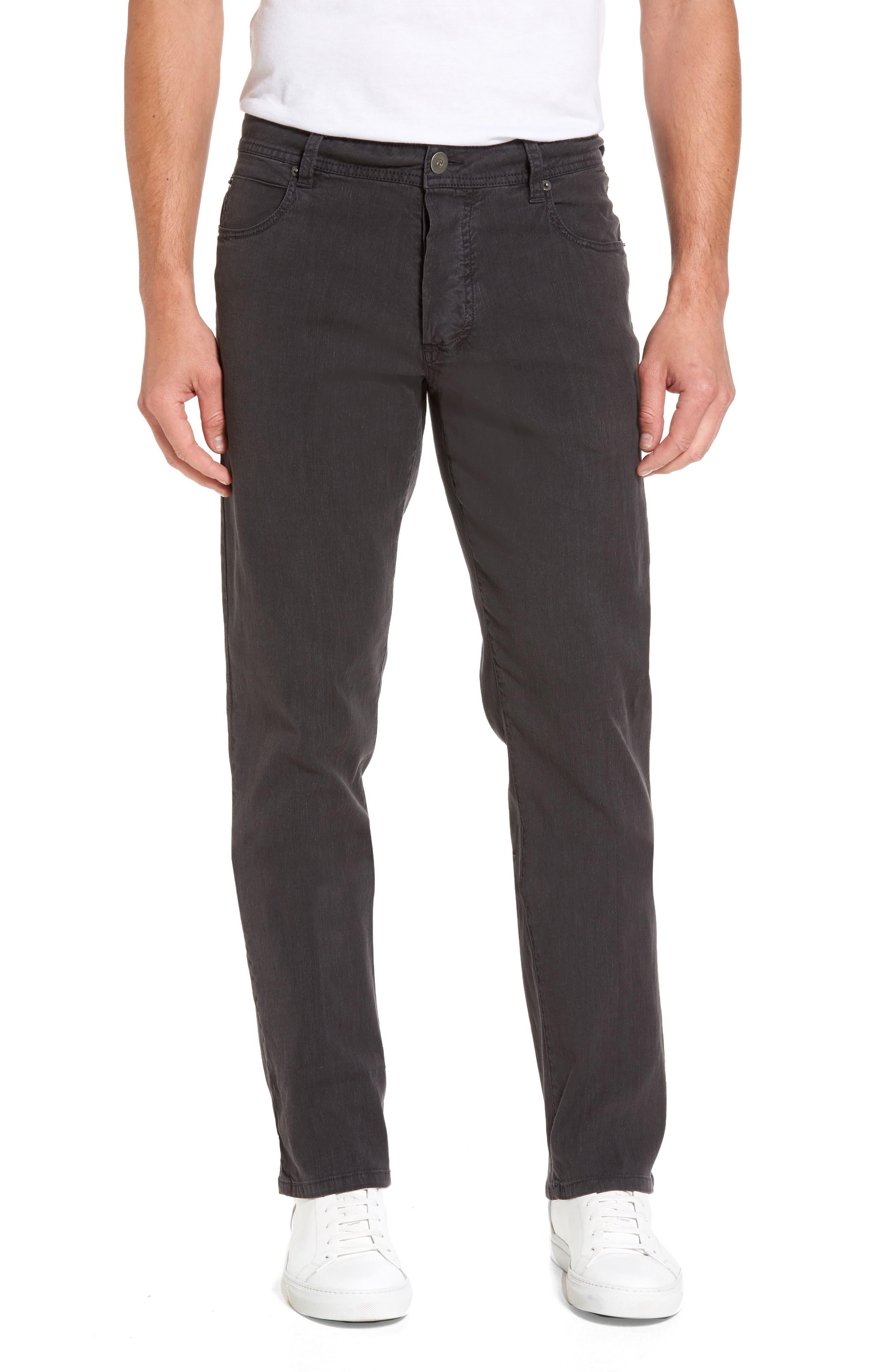Straight Leg Five-Pocket Pants,                         Main,                         color, CARBON PIGMENT