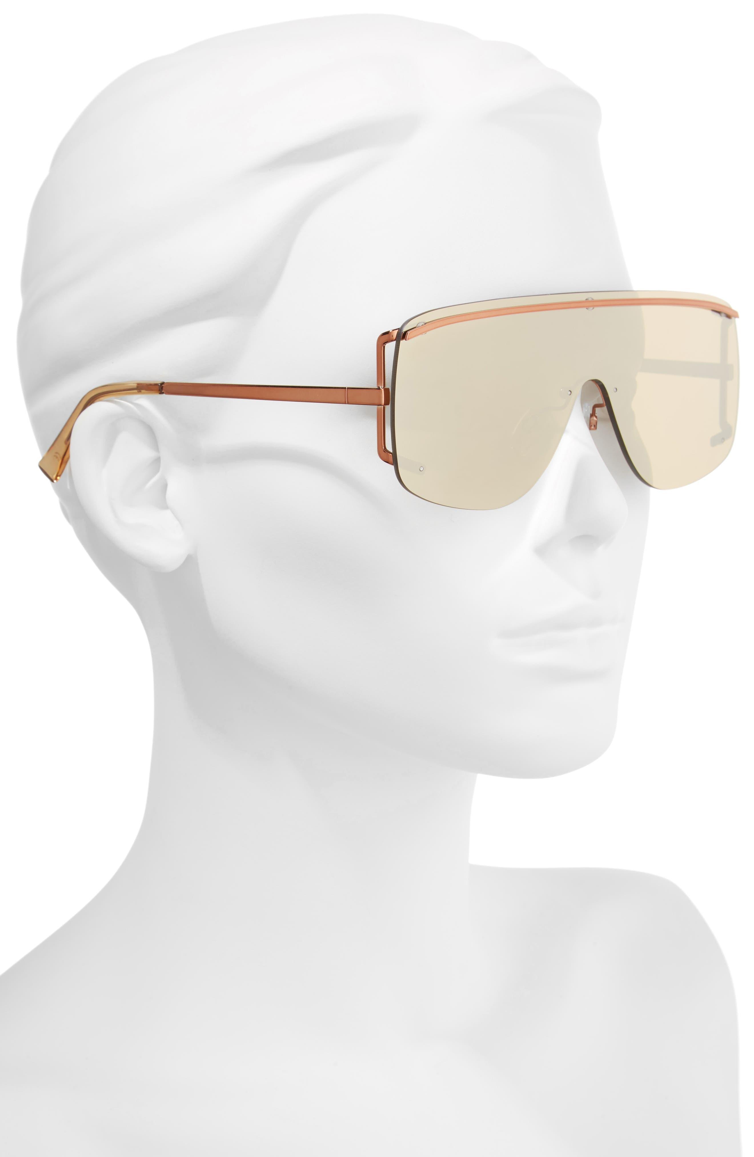 Elysium 140mm Shield Sunglasses,                             Alternate thumbnail 2, color,                             COPPER