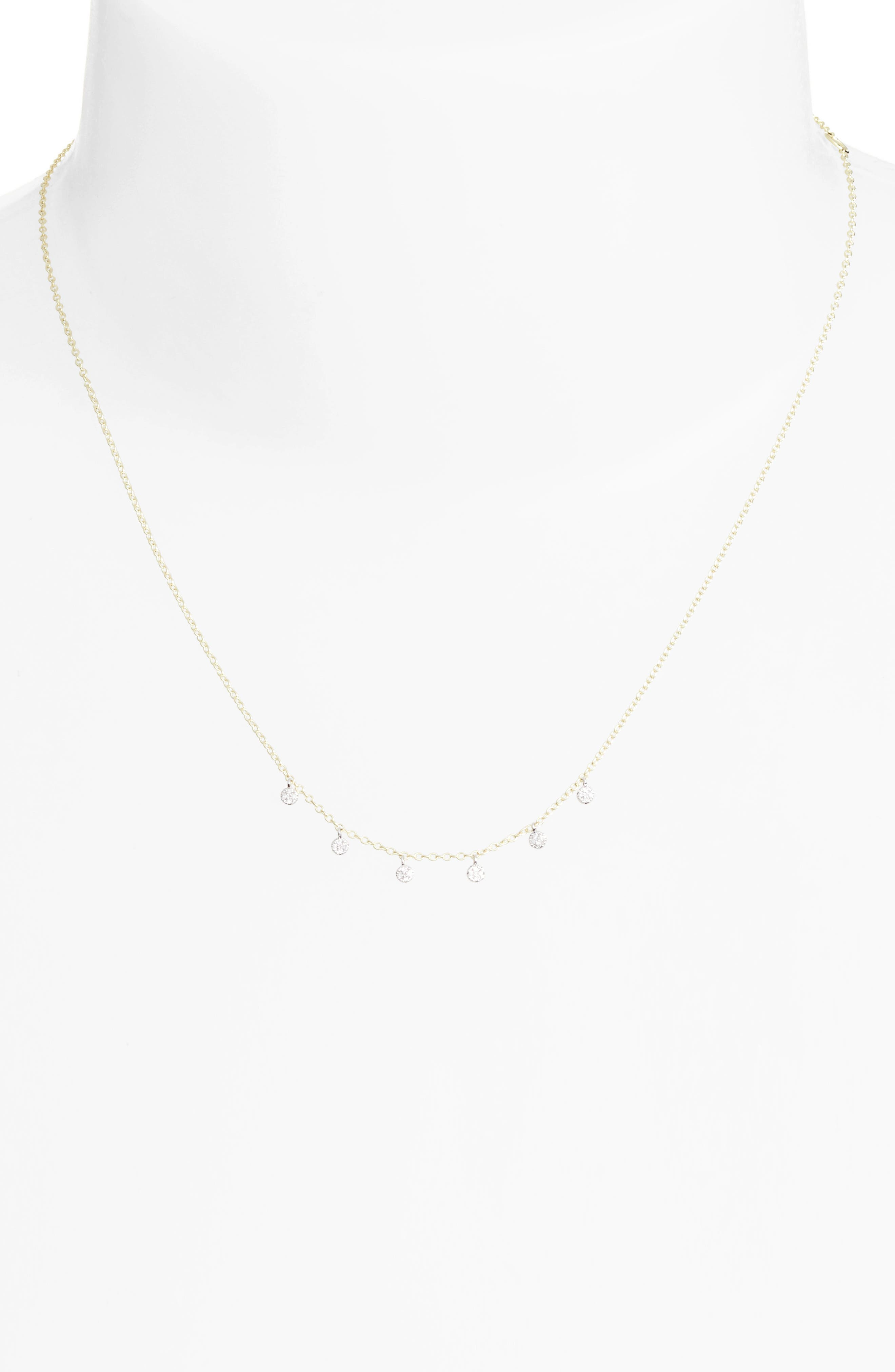 Diamond Disc Collar Necklace,                             Alternate thumbnail 2, color,                             YELLOW GOLD