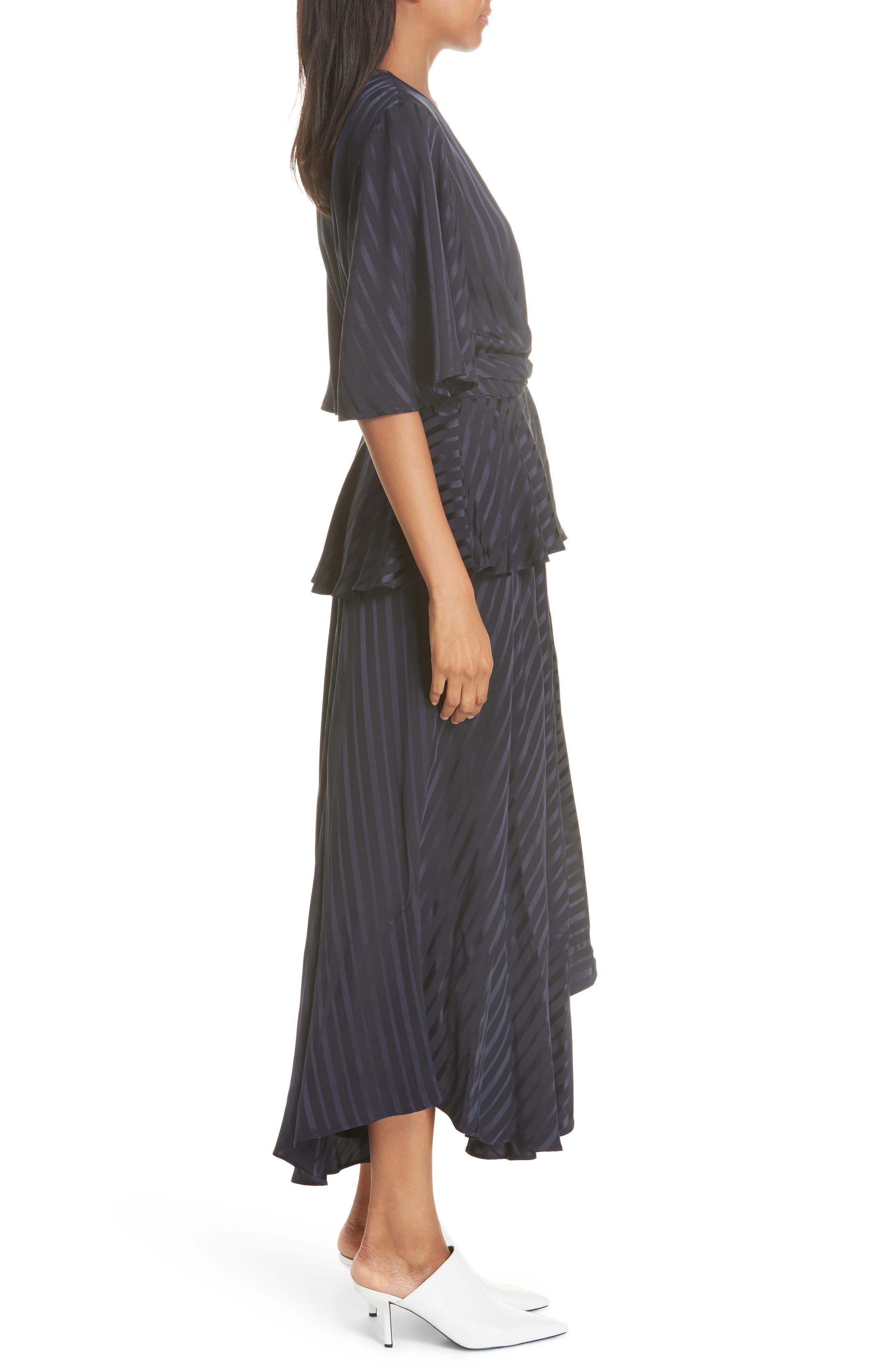 Avi Silk Dress,                             Alternate thumbnail 3, color,                             410