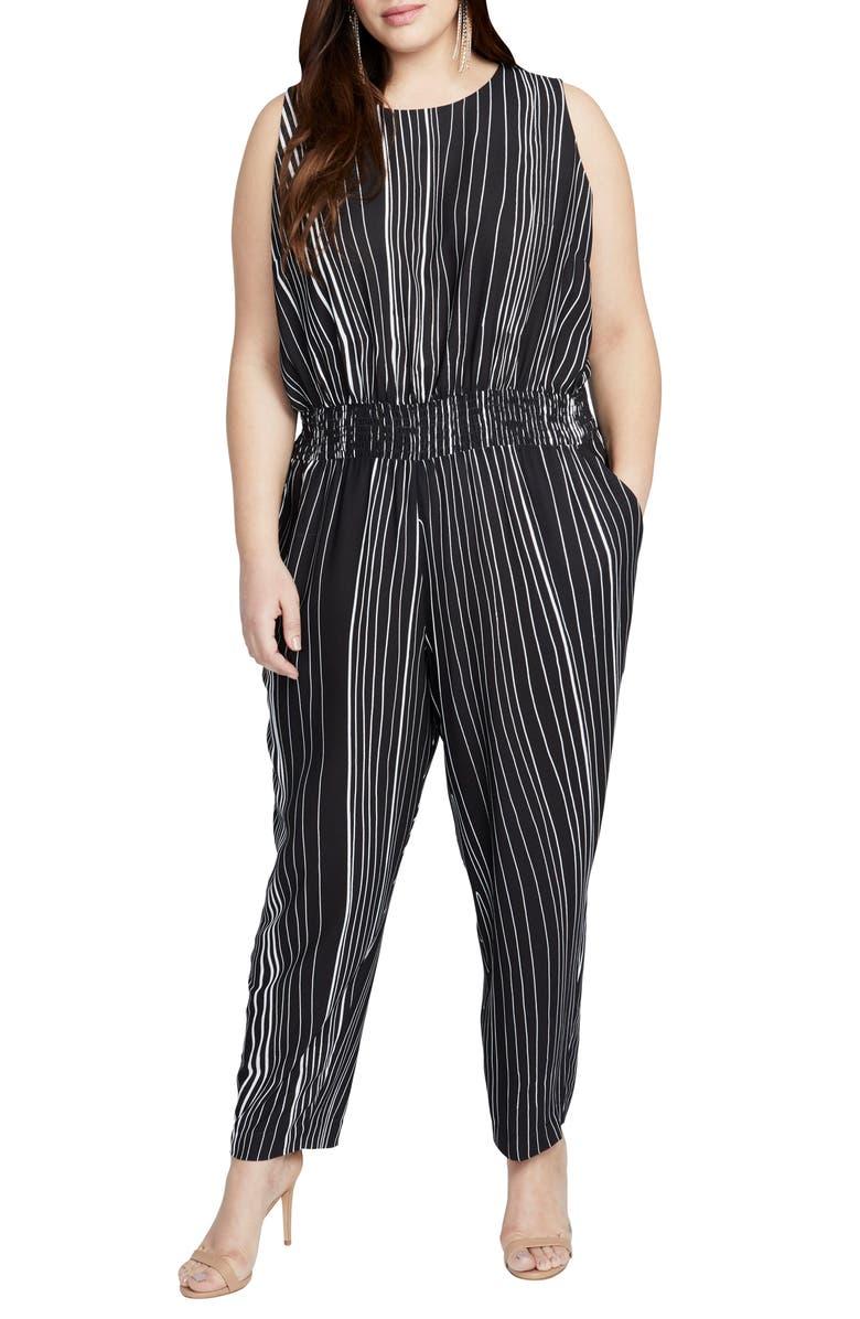 f4fc6b761da RACHEL Rachel Roy Lucia Tie Back Jumpsuit (Plus Size)