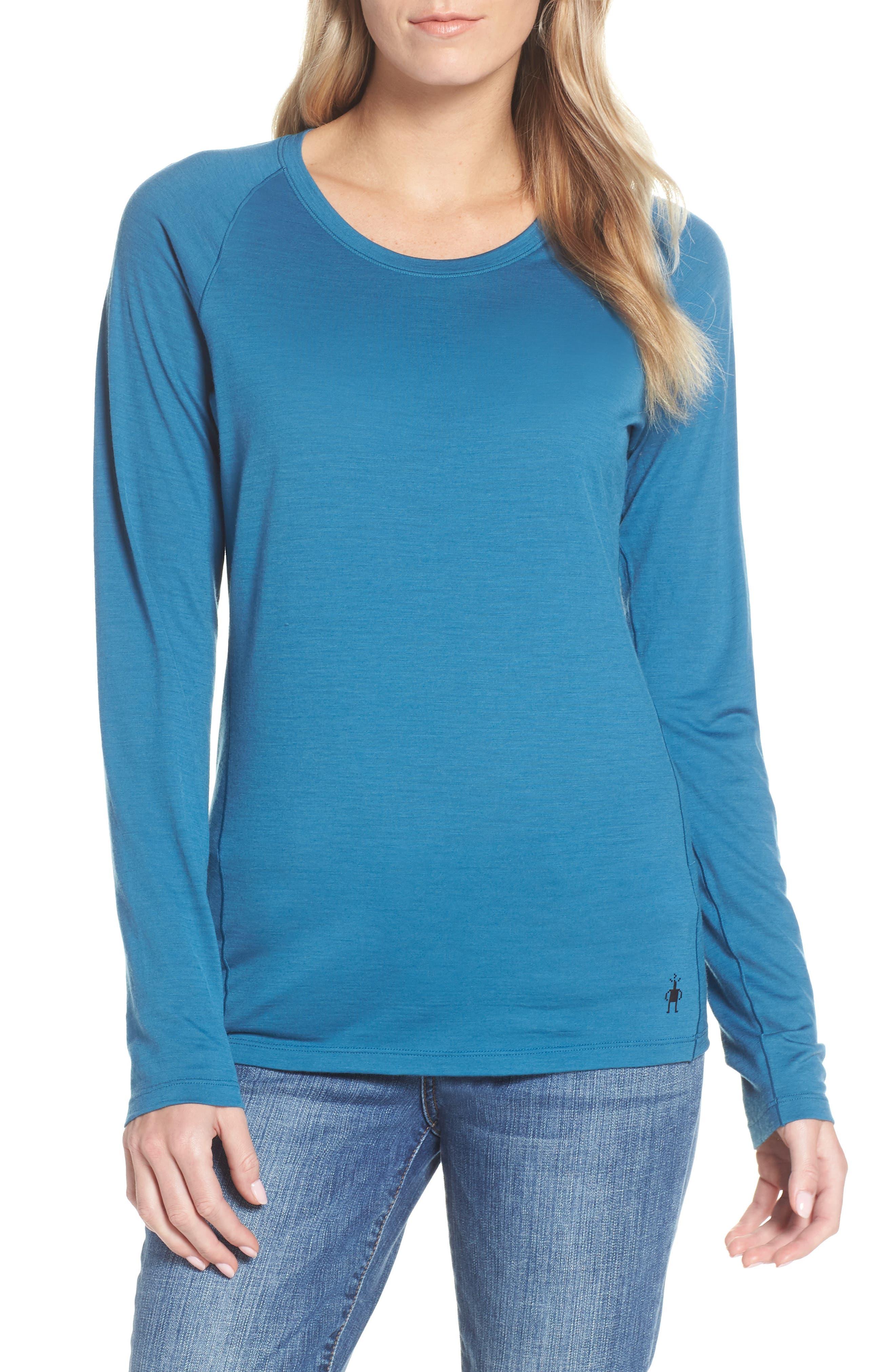 Smartwool Merino Wool 150 Base Layer Top, Blue