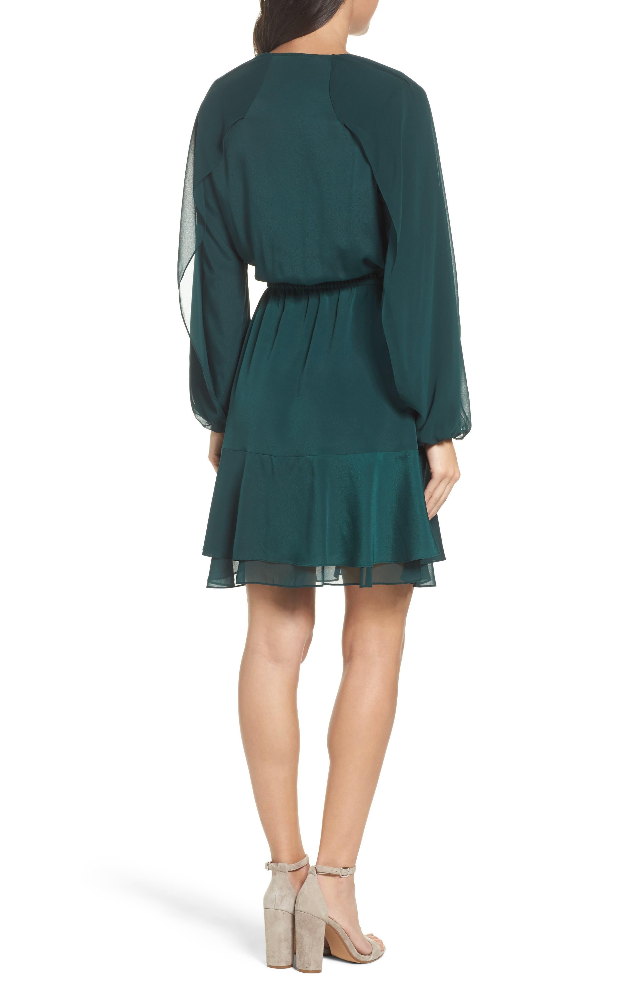 Keely Ruffle Blouson Dress,                             Alternate thumbnail 2, color,                             309