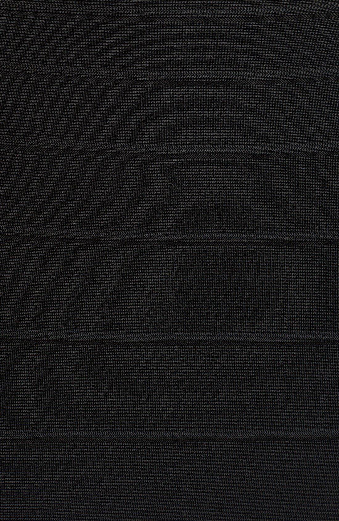 'Katrina' Mesh Inset Body-Con Bandage Dress,                             Alternate thumbnail 3, color,                             001