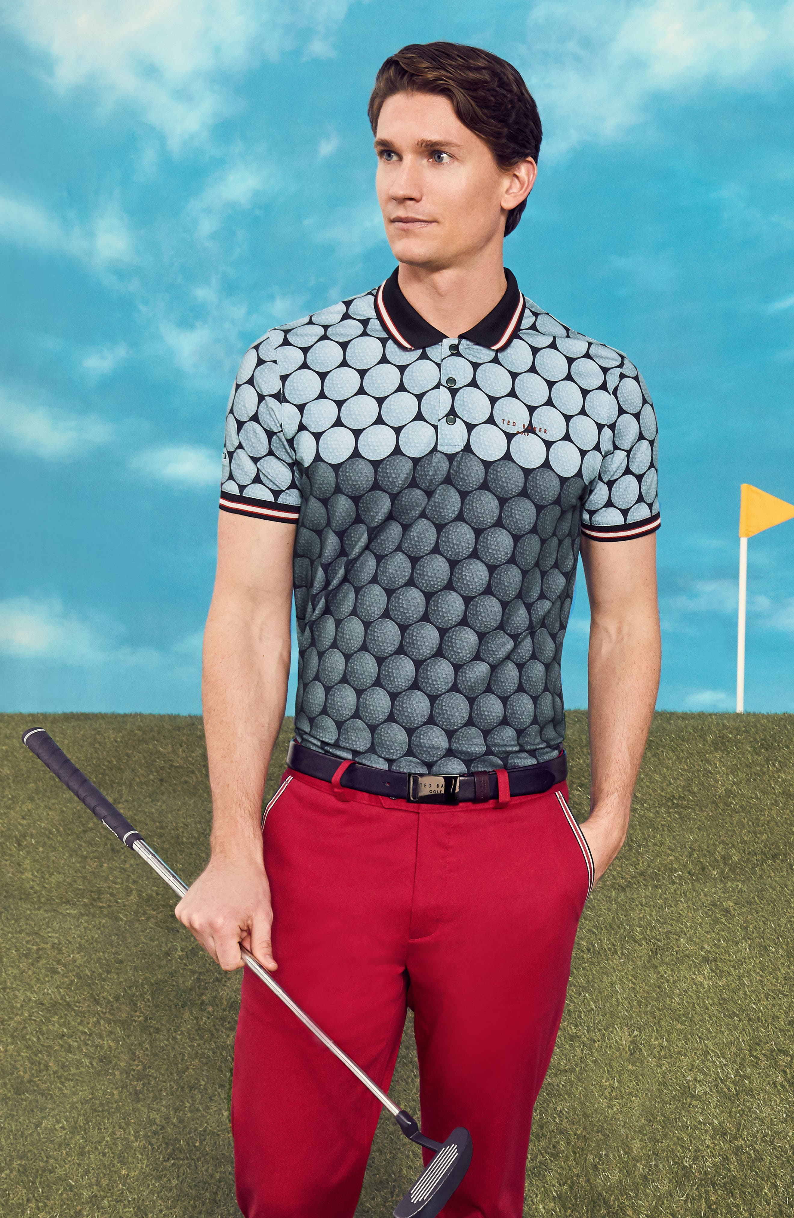 Birdy Print Golf Polo,                             Alternate thumbnail 8, color,                             030