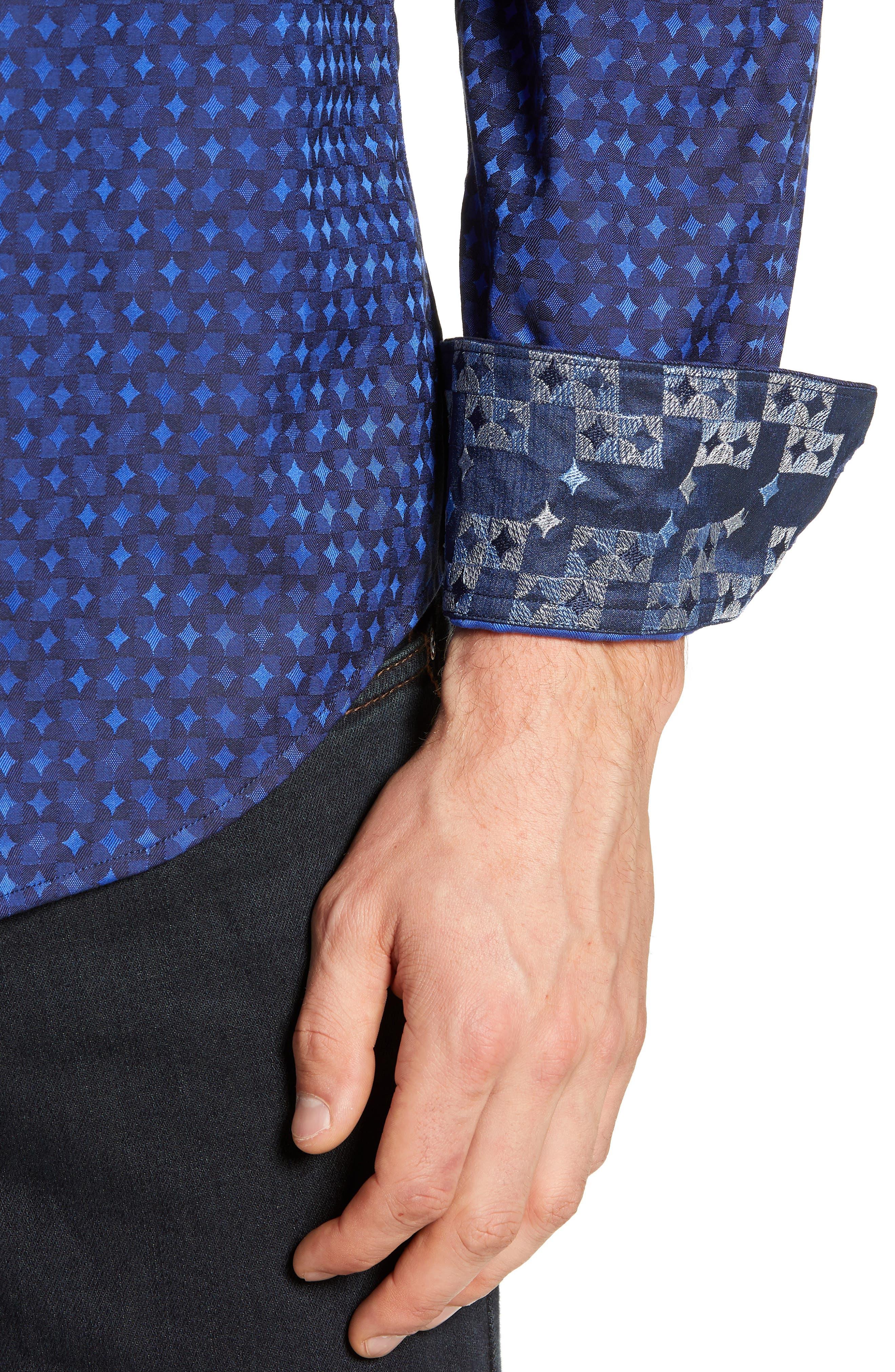 Harris Classic Fit Sport Shirt,                             Alternate thumbnail 2, color,                             BLUE