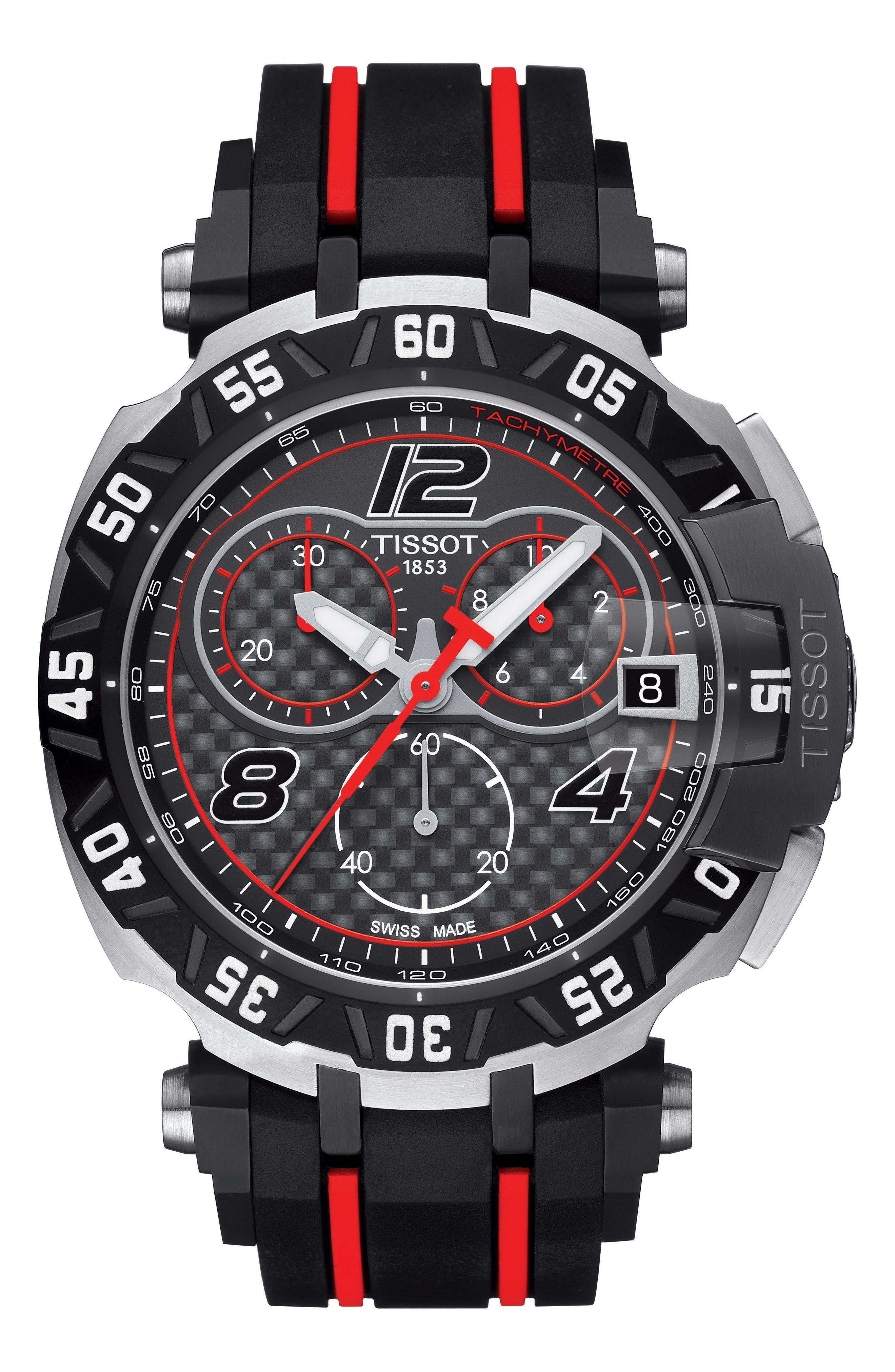 T-Race Sport Chronograph Watch, 45mm,                         Main,                         color, 001
