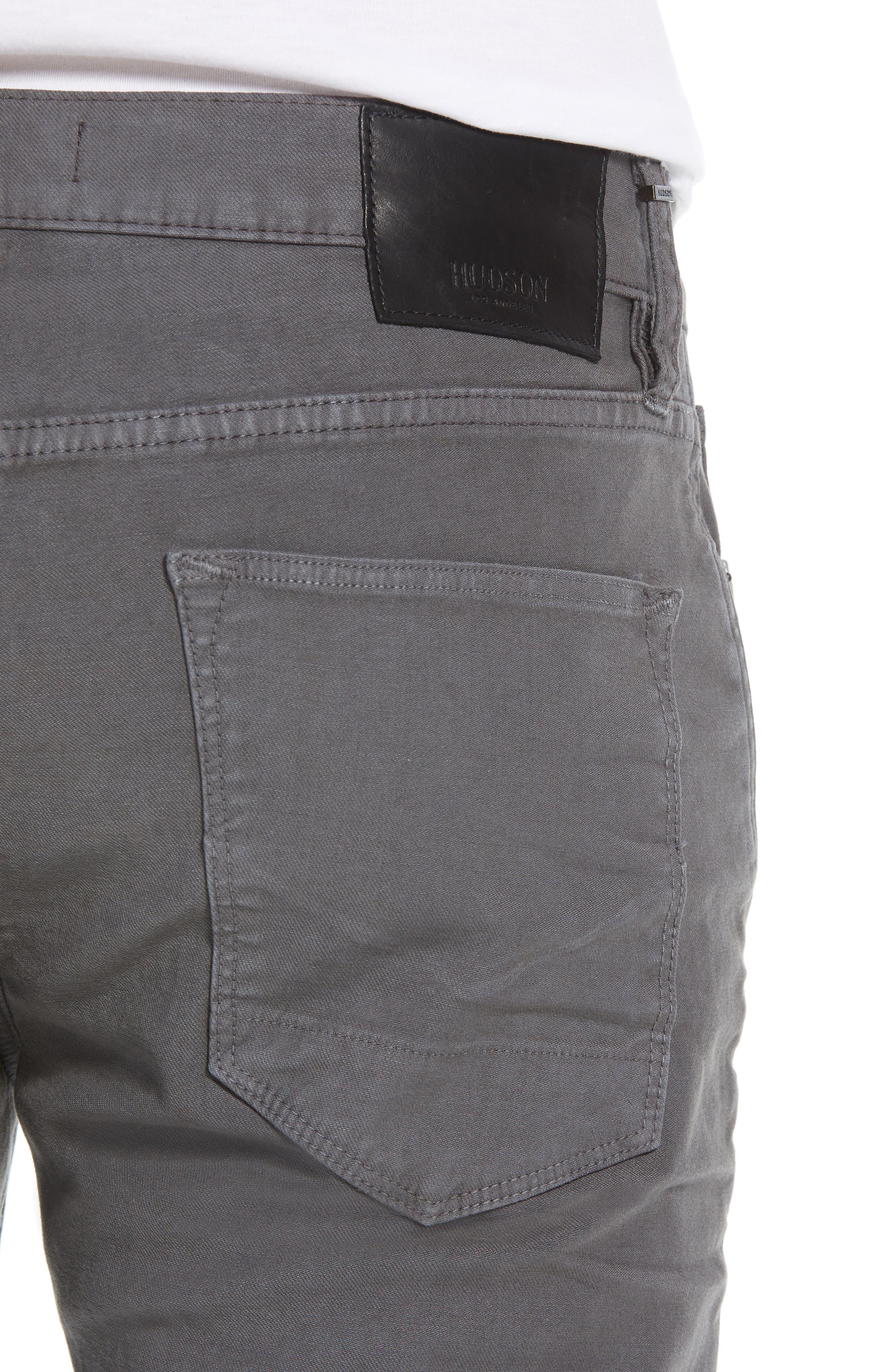 Hudson Axl Skinny Fit Jeans,                             Alternate thumbnail 4, color,                             GRAPHITE