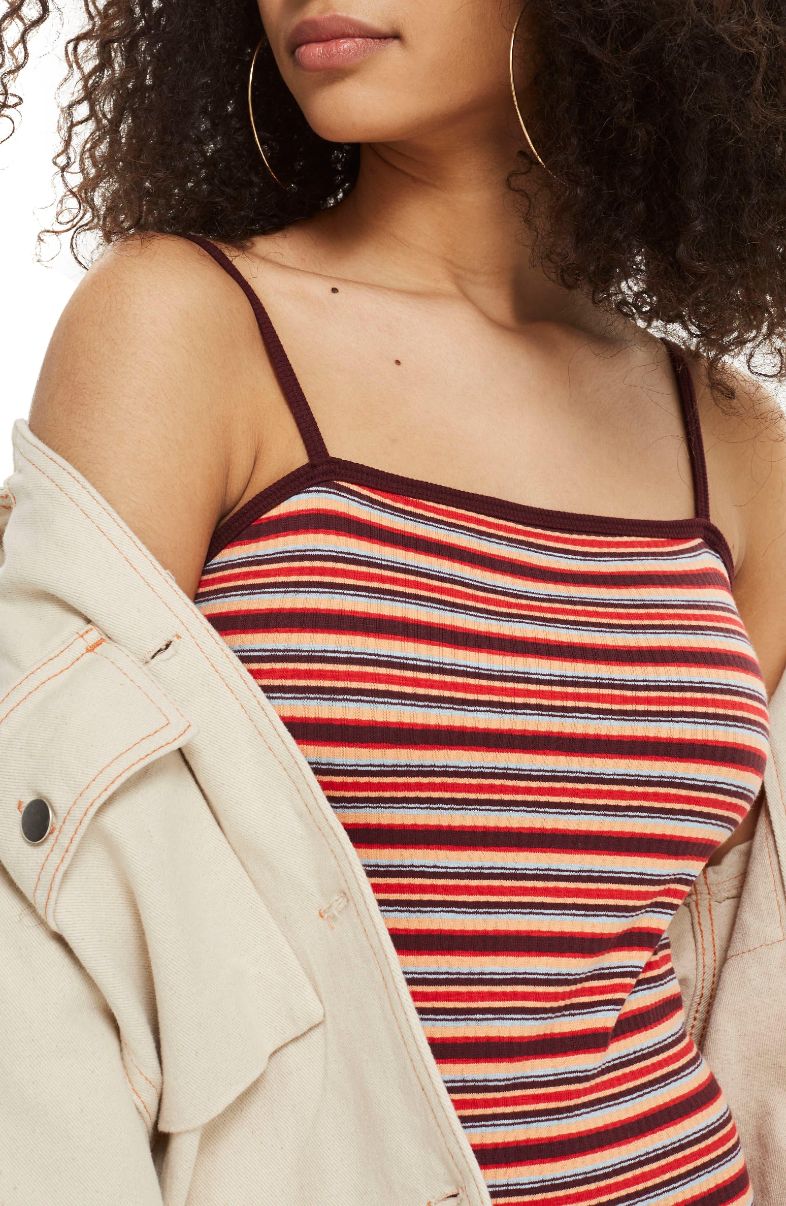 Stripe Body-Con Minidress,                             Alternate thumbnail 2, color,                             601