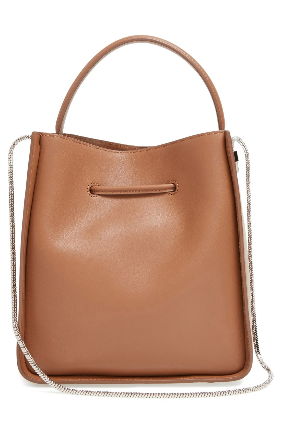 Small Soleil Leather Bucket Bag,                             Alternate thumbnail 9, color,