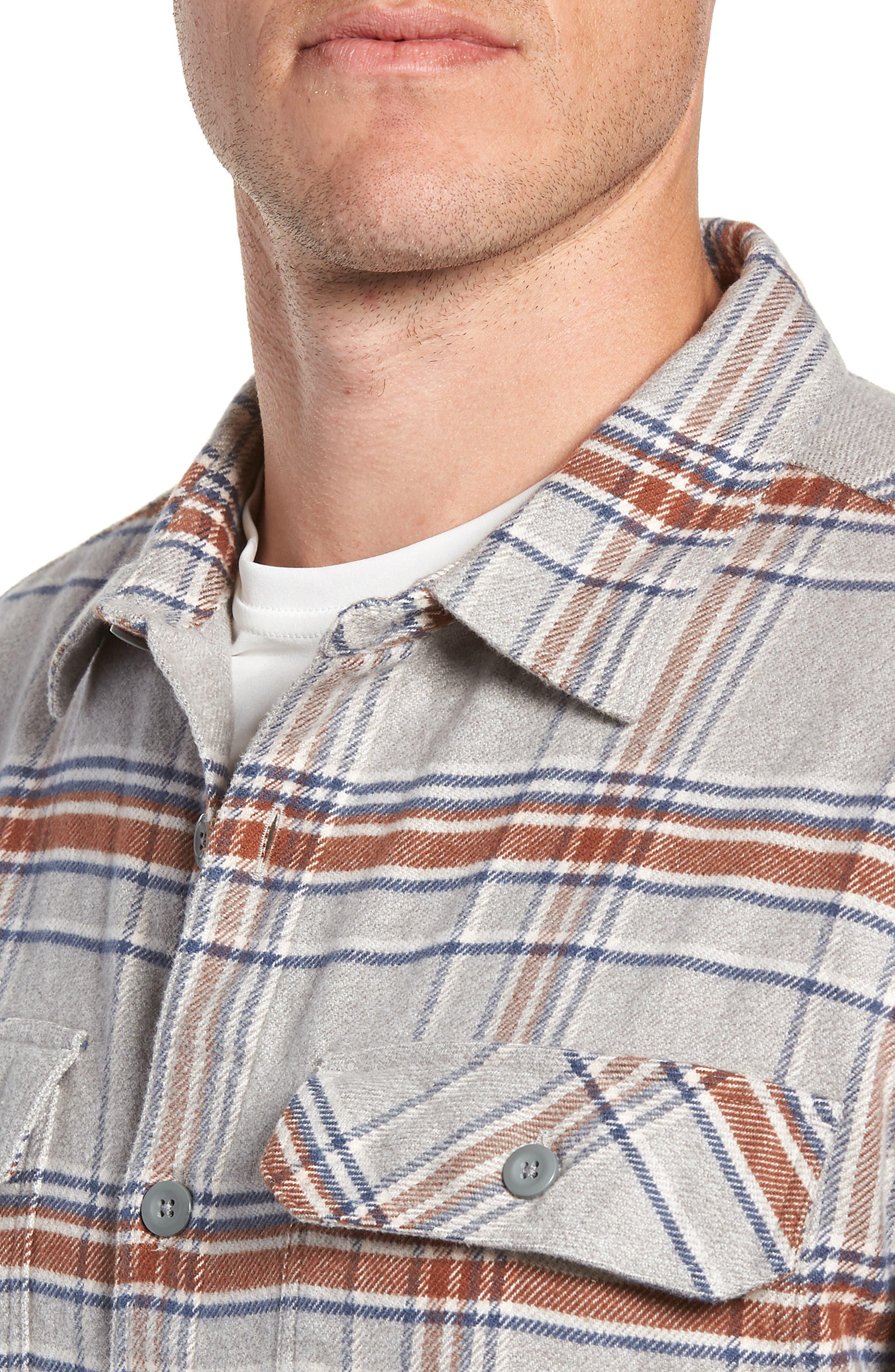 'Fjord' Regular Fit Organic Cotton Flannel Shirt,                             Alternate thumbnail 2, color,                             ACTIVIST FEATHER GREY