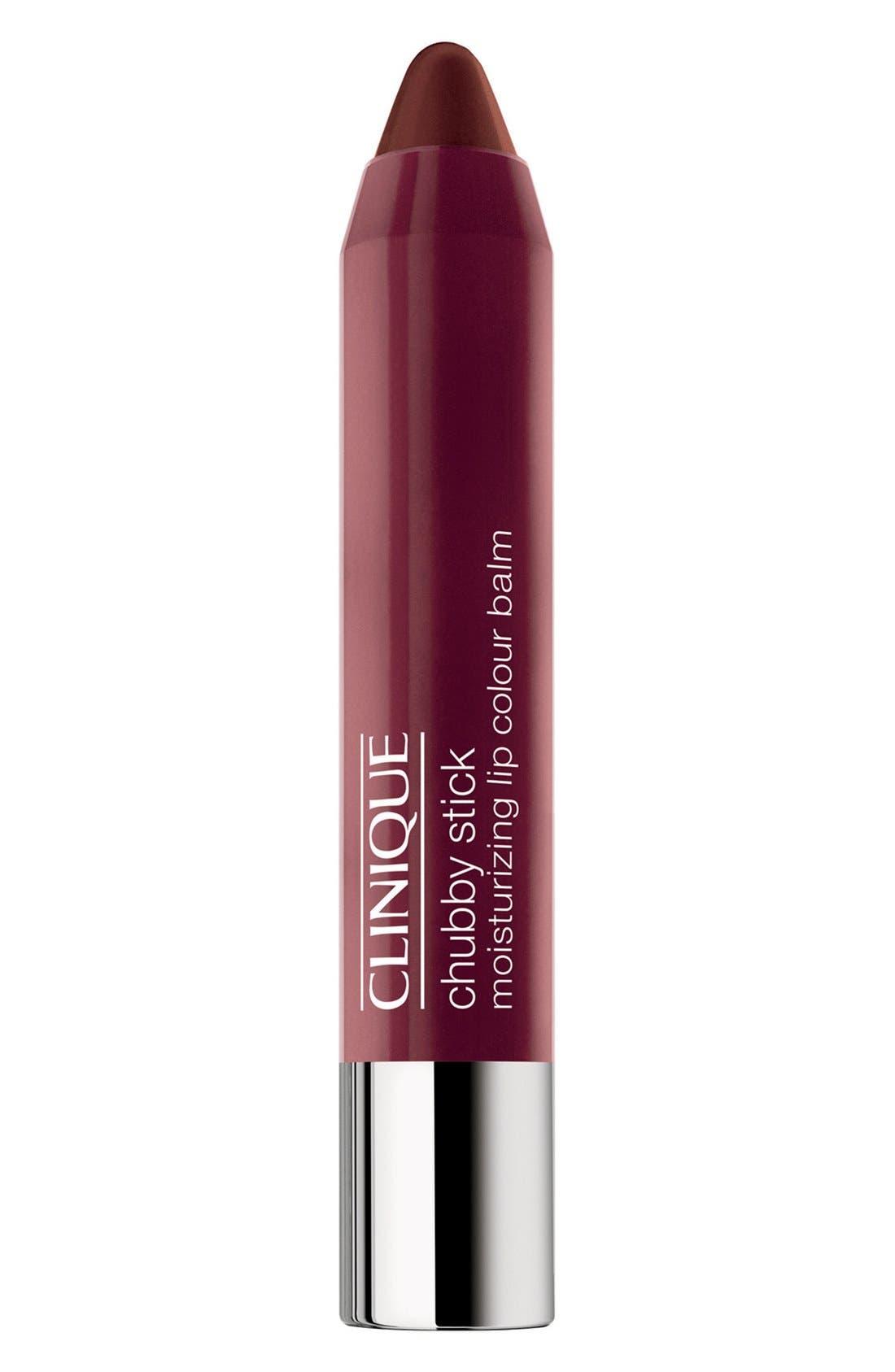 CLINIQUE,                             Chubby Stick Moisturizing Lip Color Balm,                             Main thumbnail 1, color,                             RICHER RAISIN