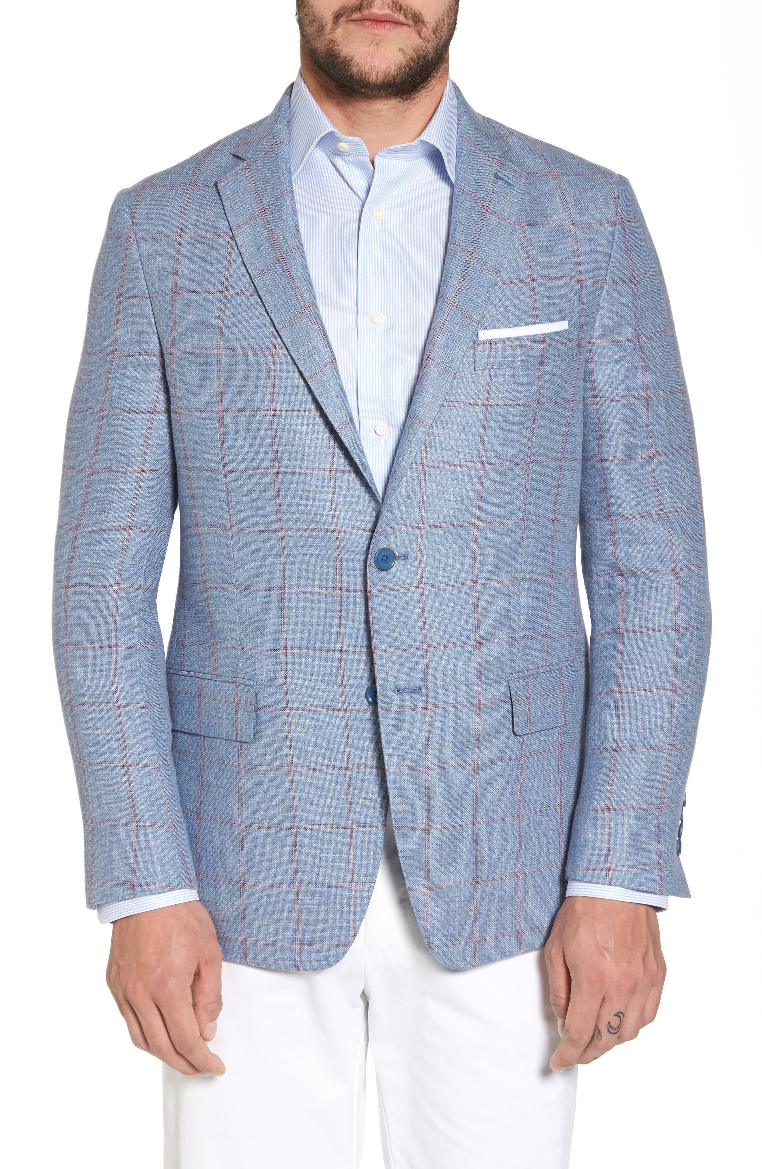 Classic Fit Check Sport Coat,                         Main,                         color, 401