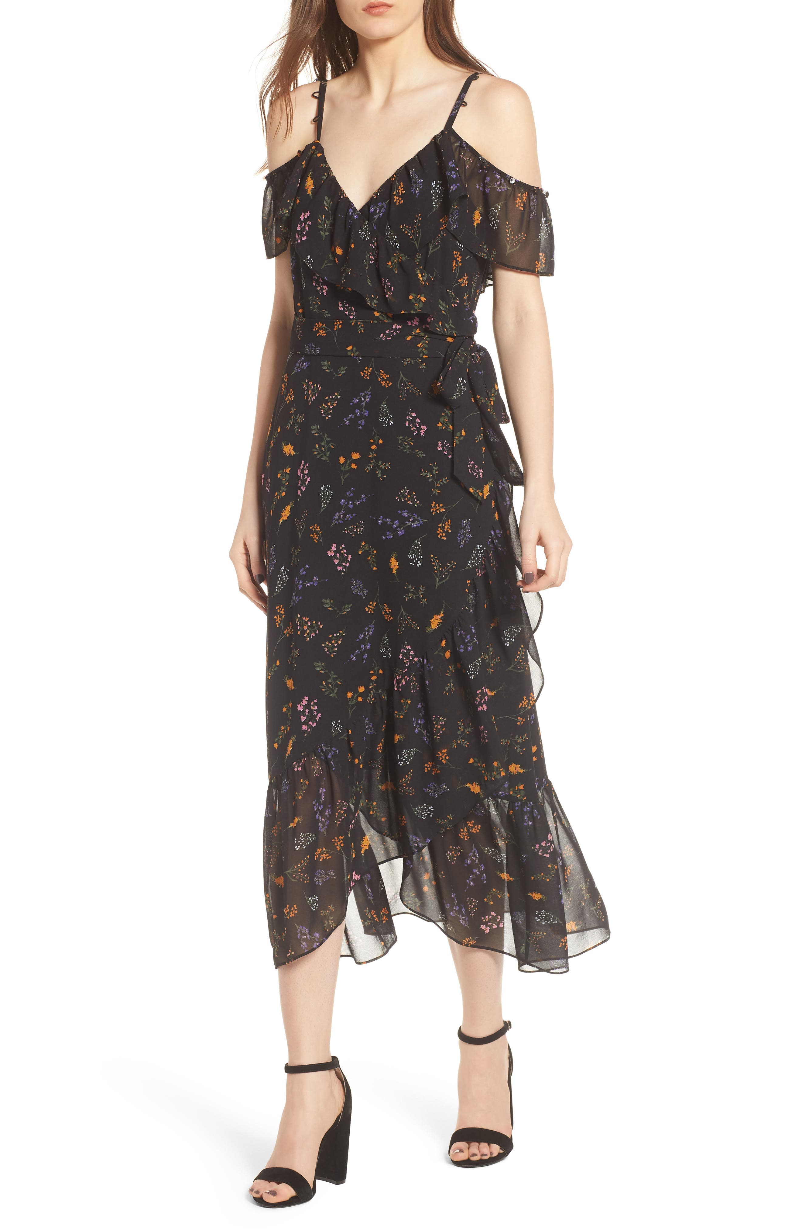 Jessica Wrap Dress,                             Main thumbnail 1, color,                             002