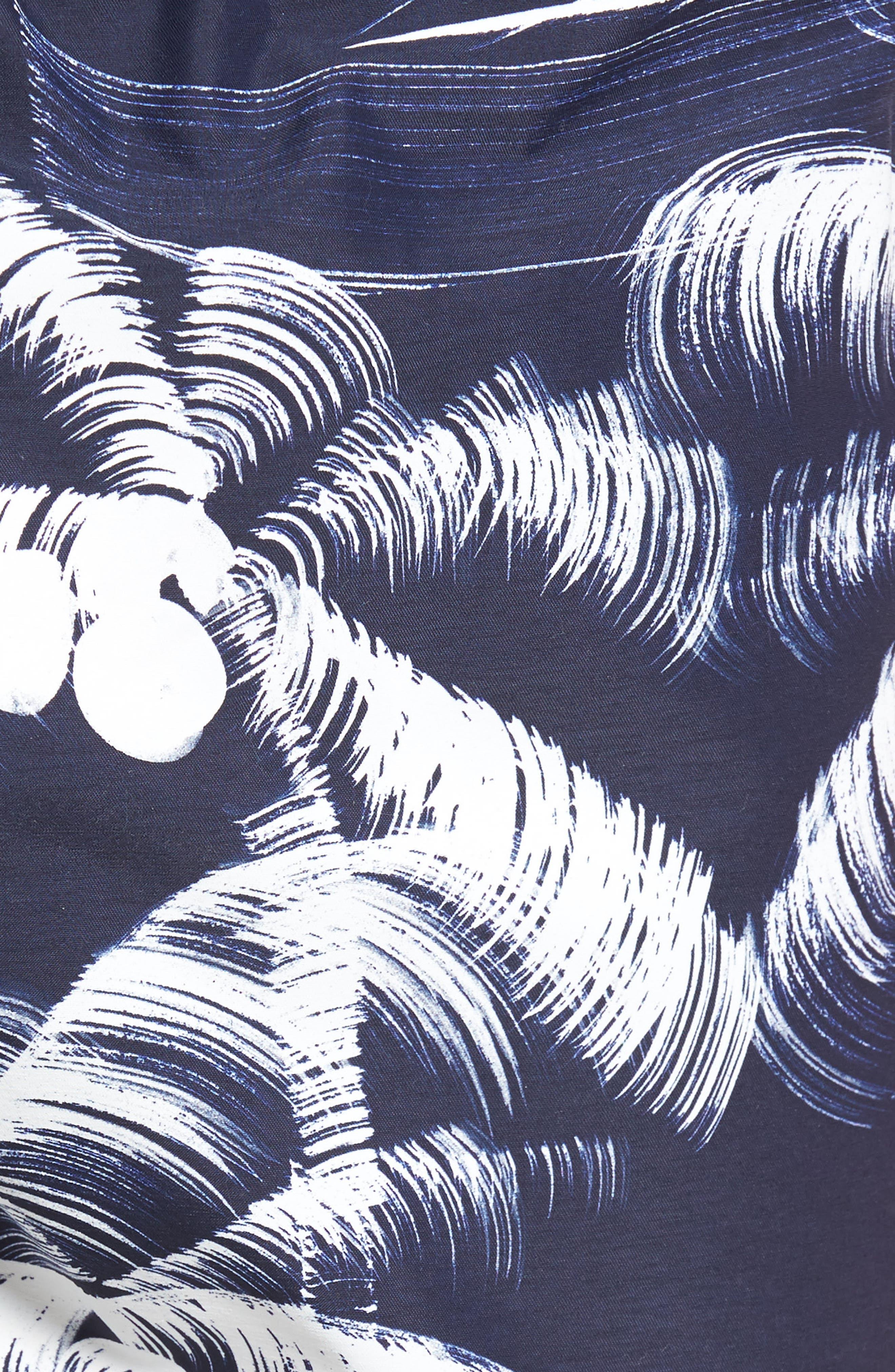 Palm Trees Print Swim Trunks,                             Alternate thumbnail 5, color,                             400