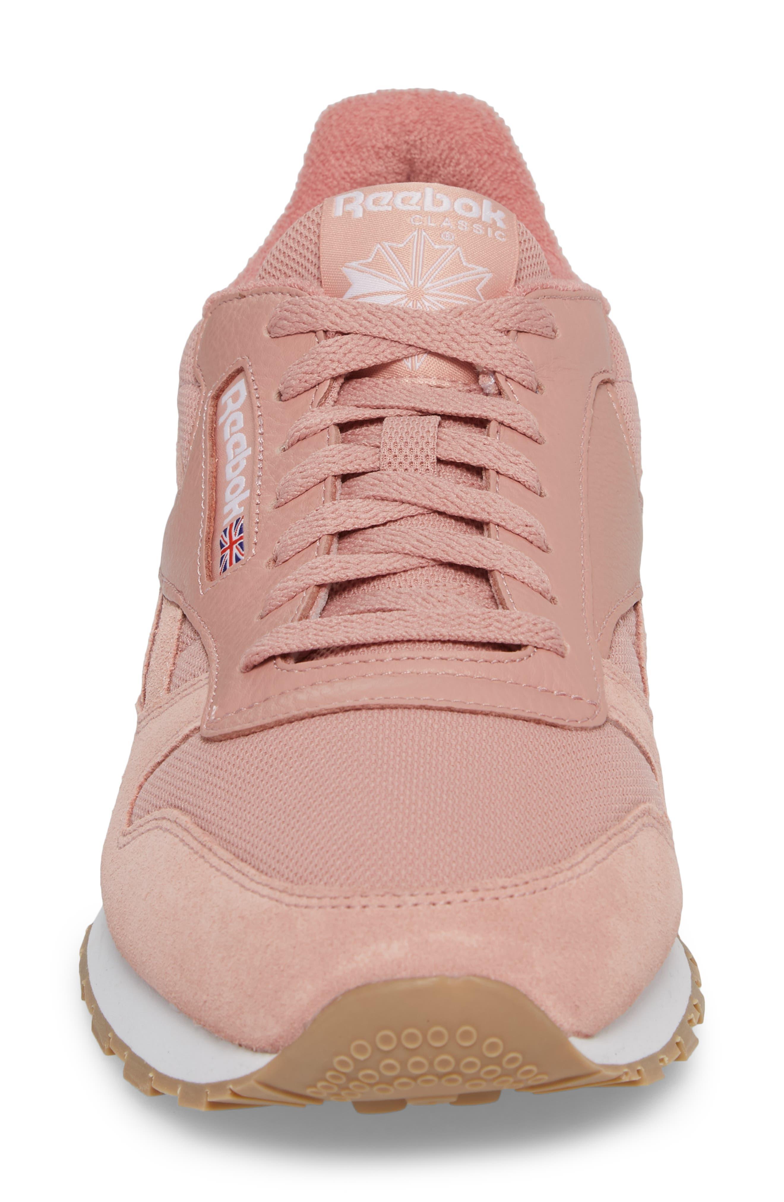 ESTL Classic Leather Sneaker,                             Alternate thumbnail 4, color,                             CHALK PINK/ WHITE